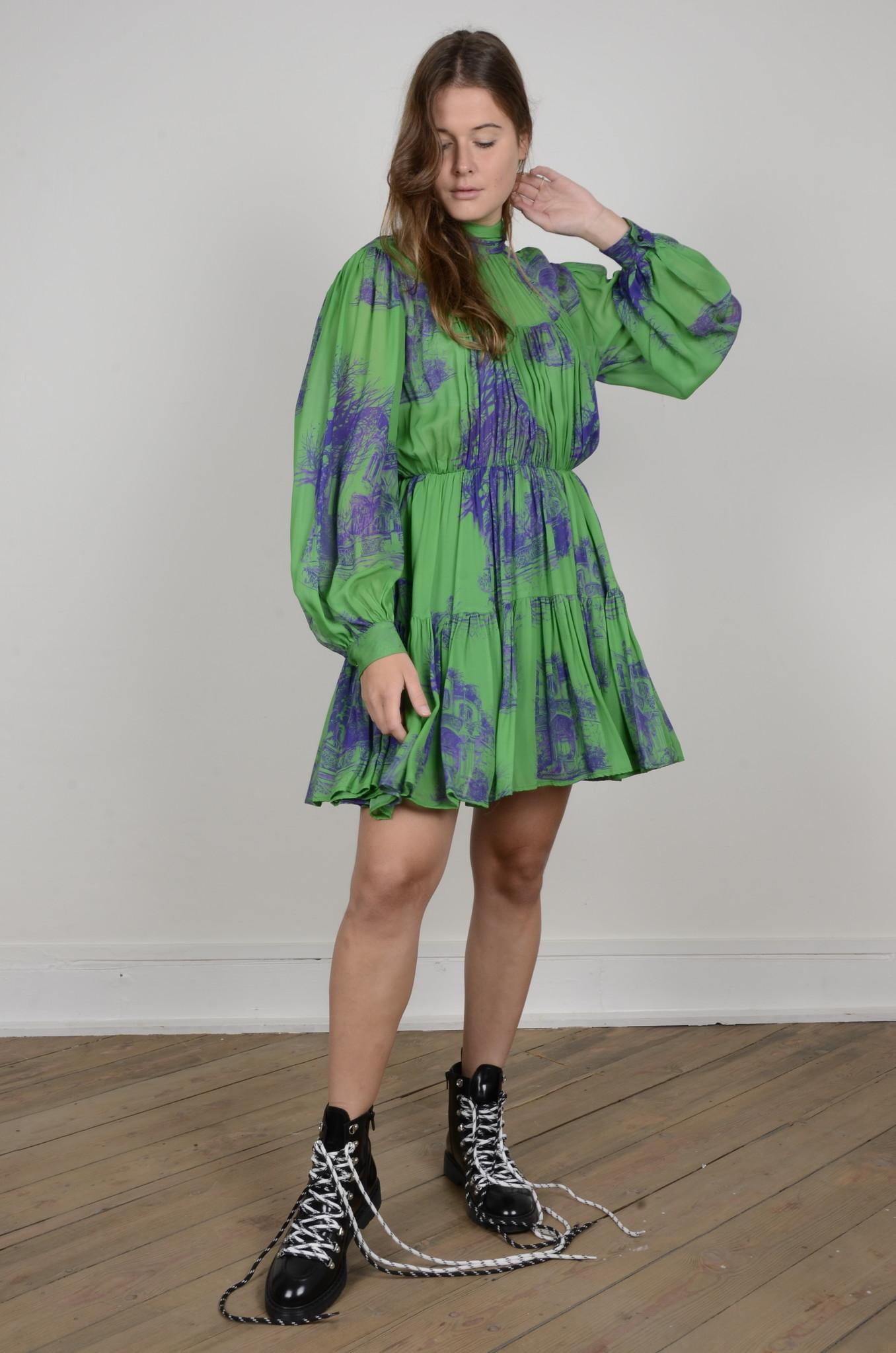 PRINTED CHIFFON DRESS-5