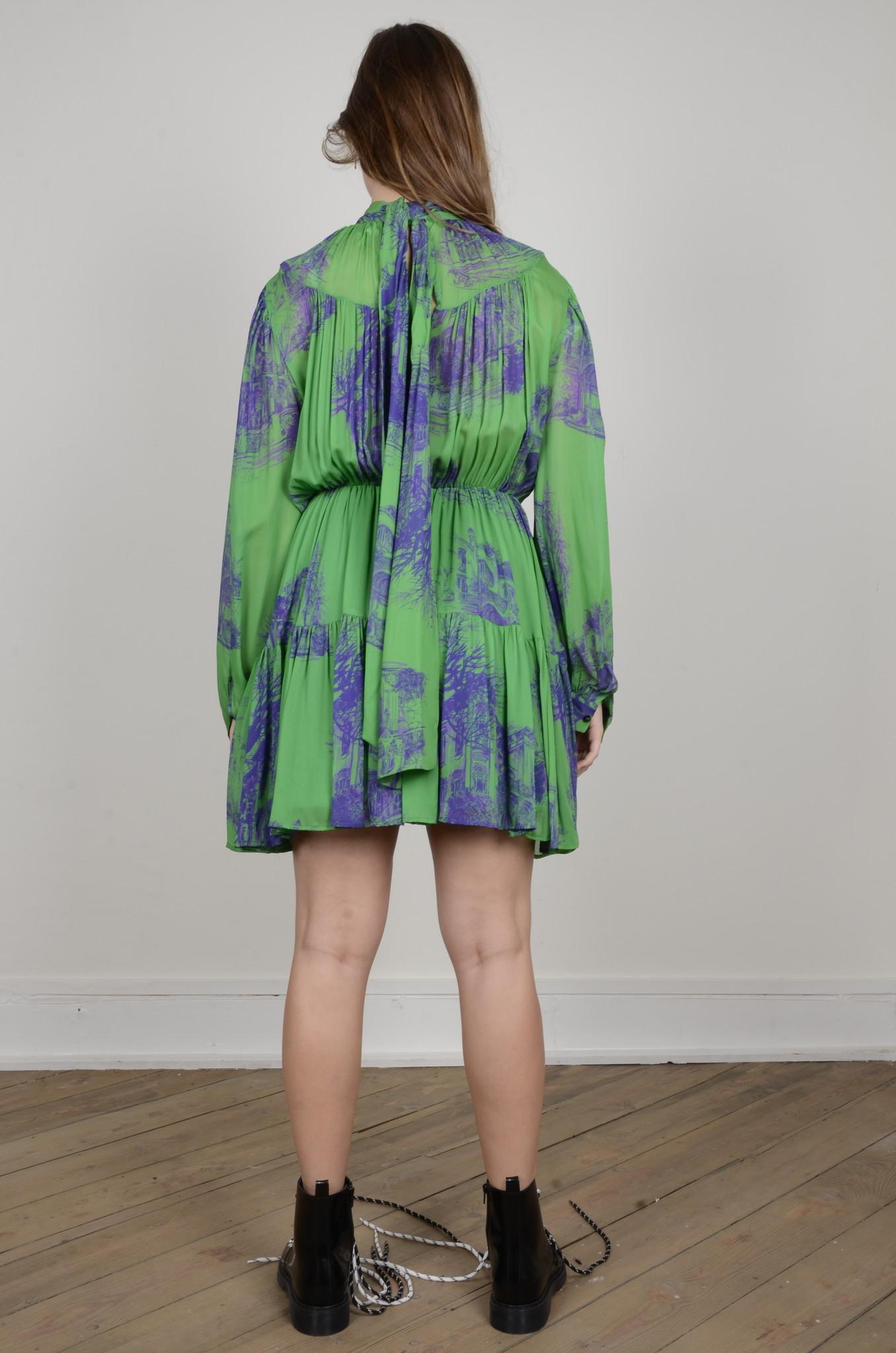 PRINTED CHIFFON DRESS-3