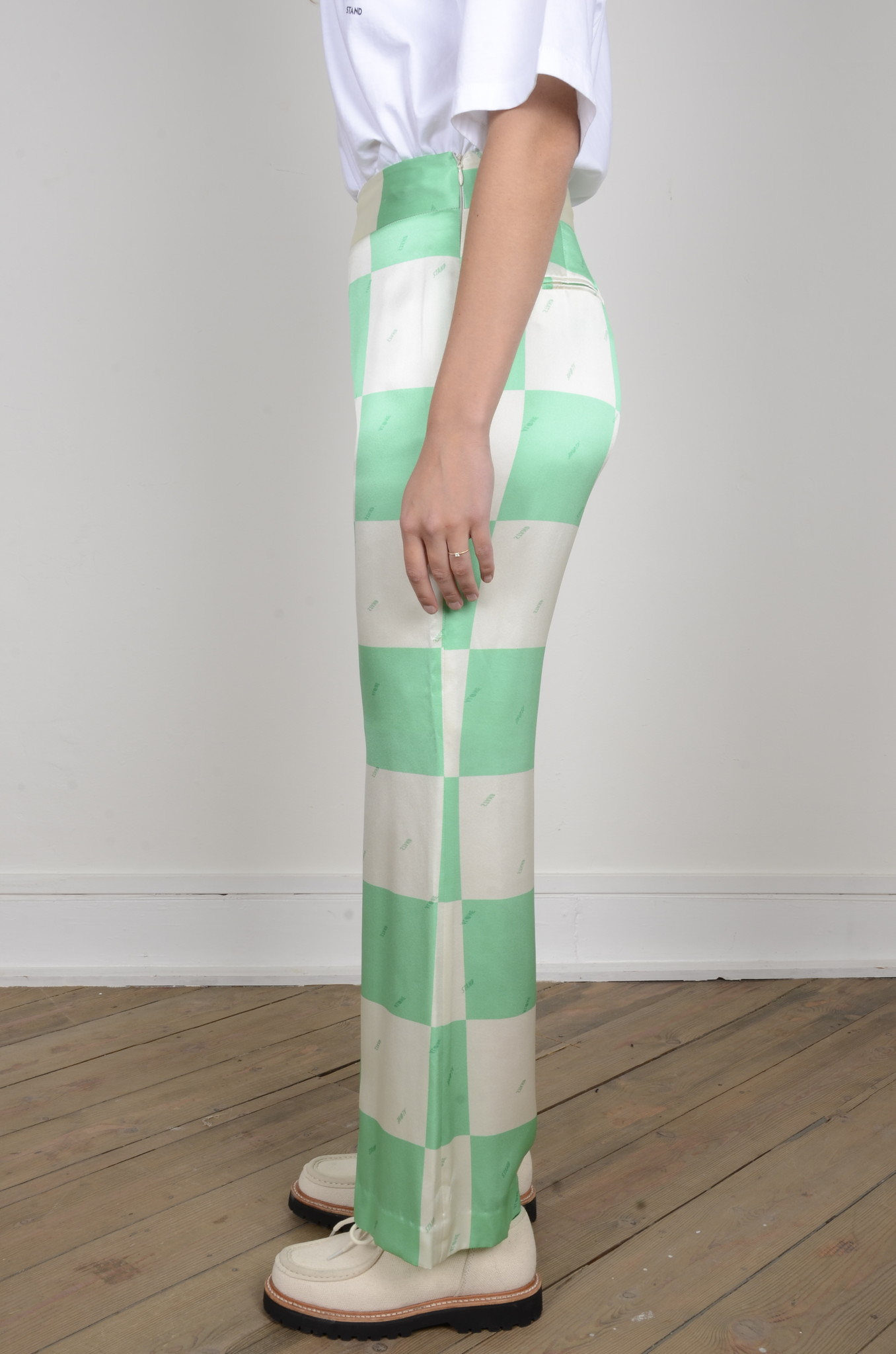 FLARED SILK TROUSERS-2