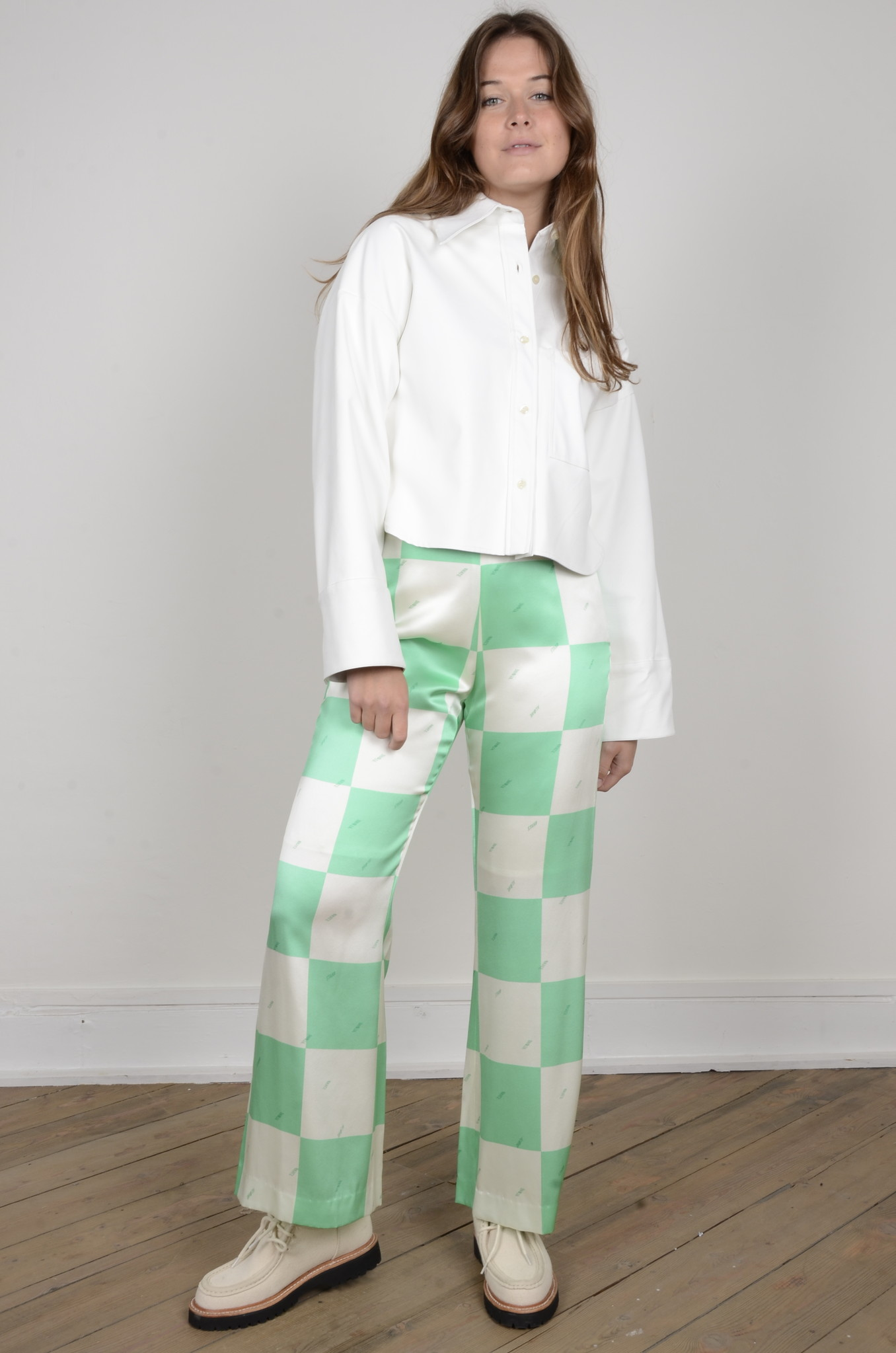 FLARED SILK TROUSERS-7