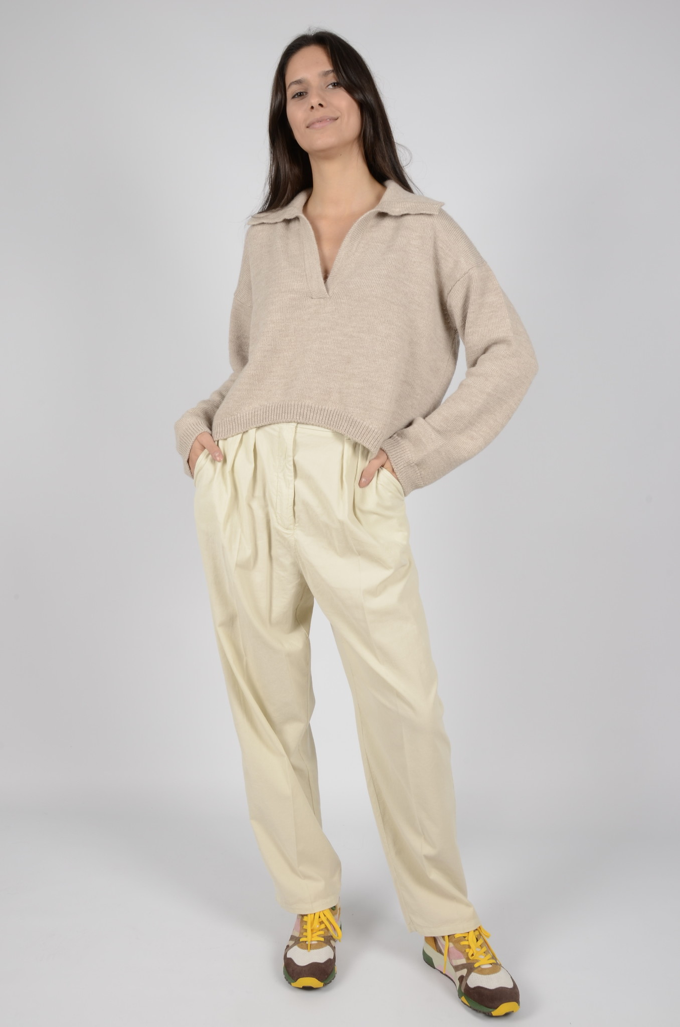 BABY RIB PLEATED TROUSERS-6