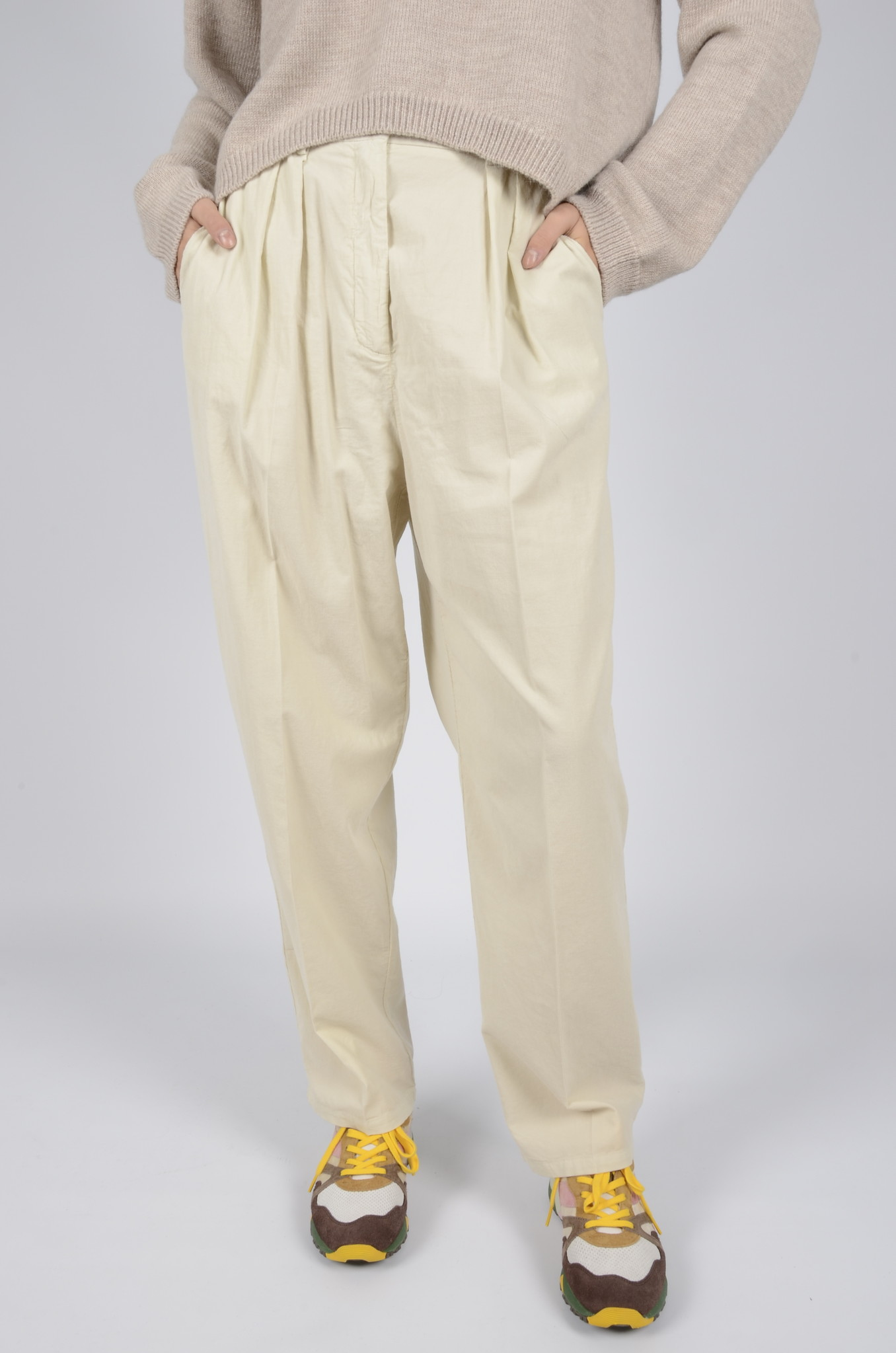 BABY RIB PLEATED TROUSERS-4
