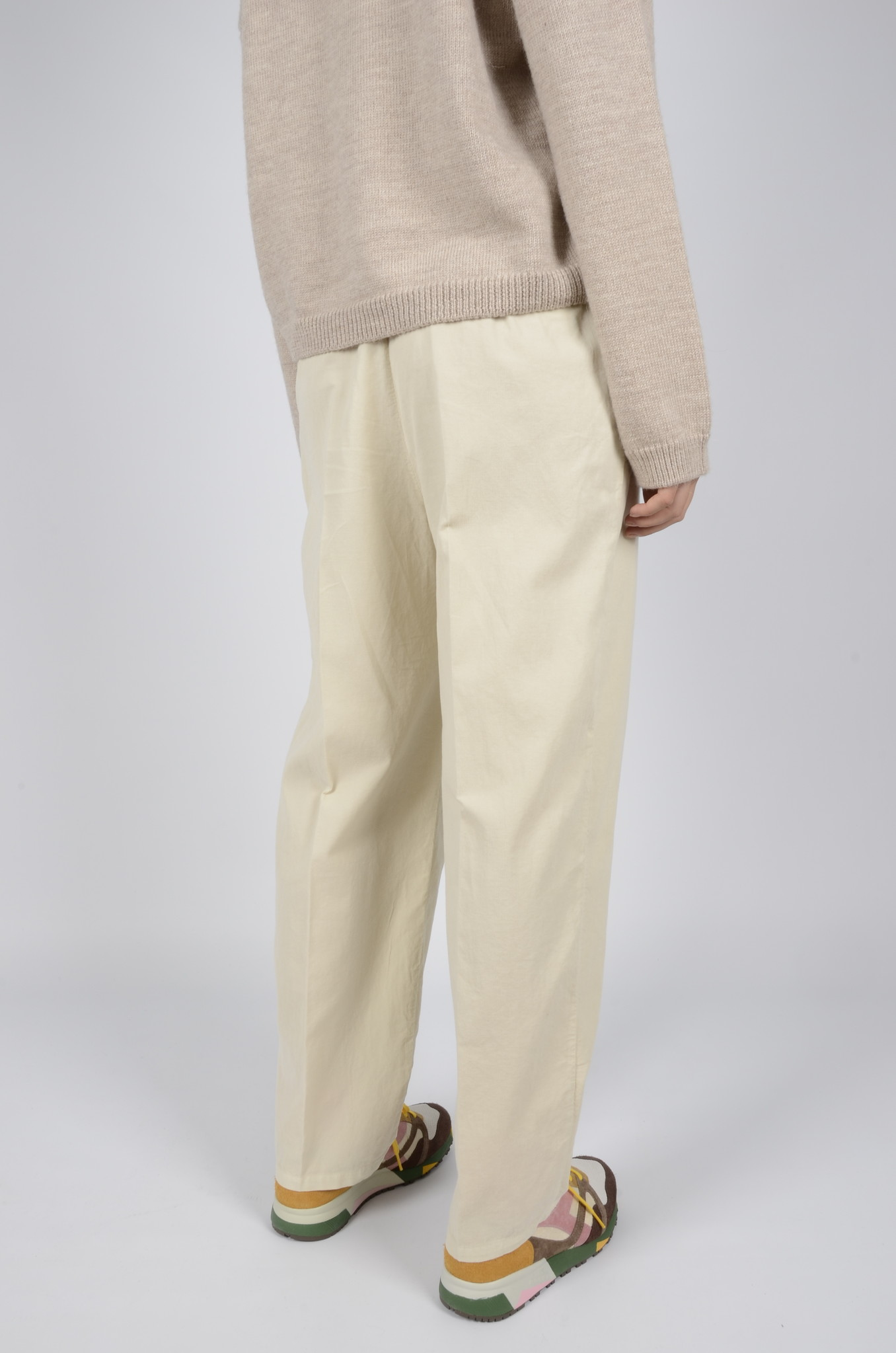 BABY RIB PLEATED TROUSERS-3
