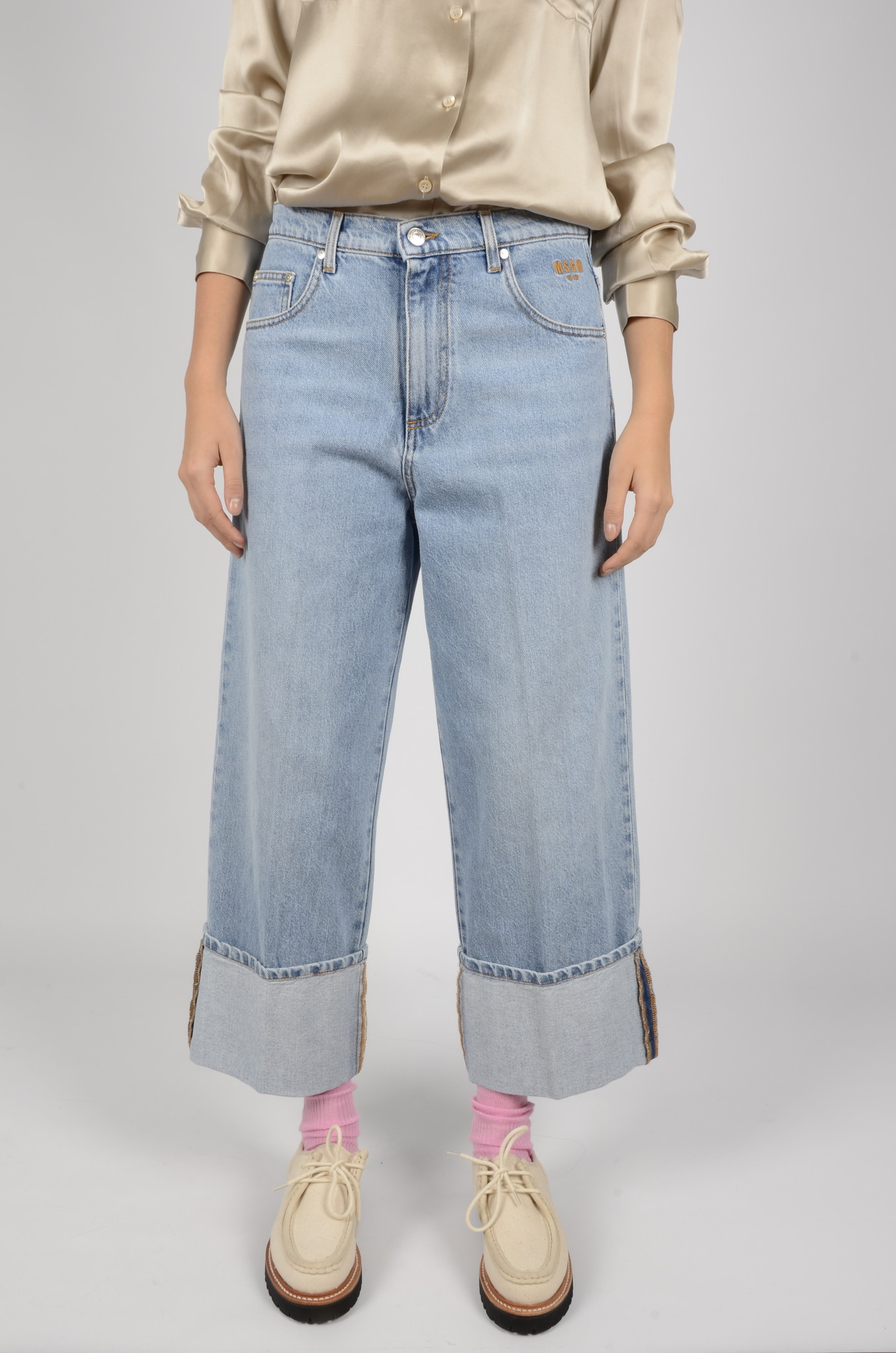 HIGH RISE CROPPED JEANS-1