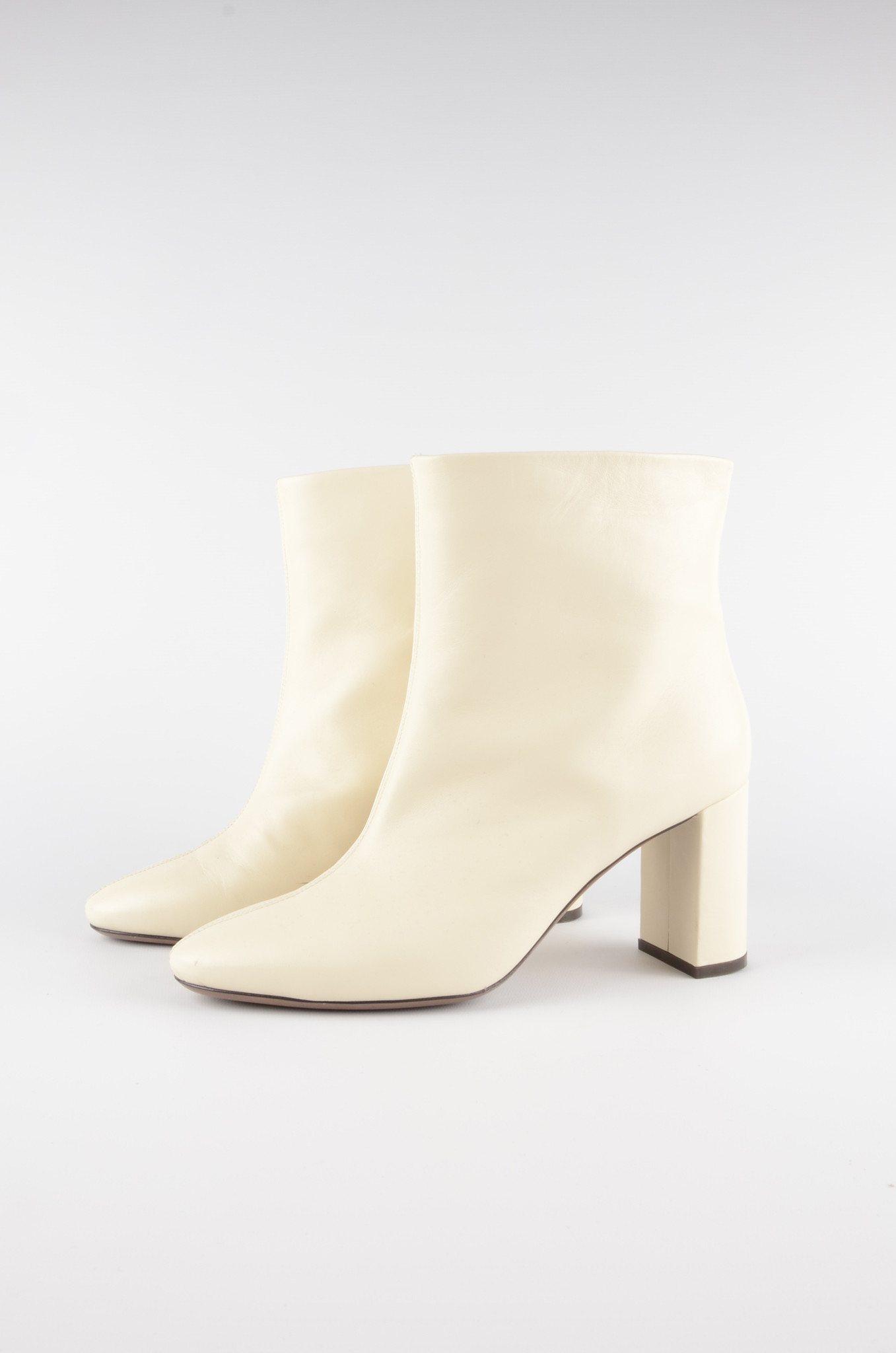 ANKLE BOOTS IN MILK-1