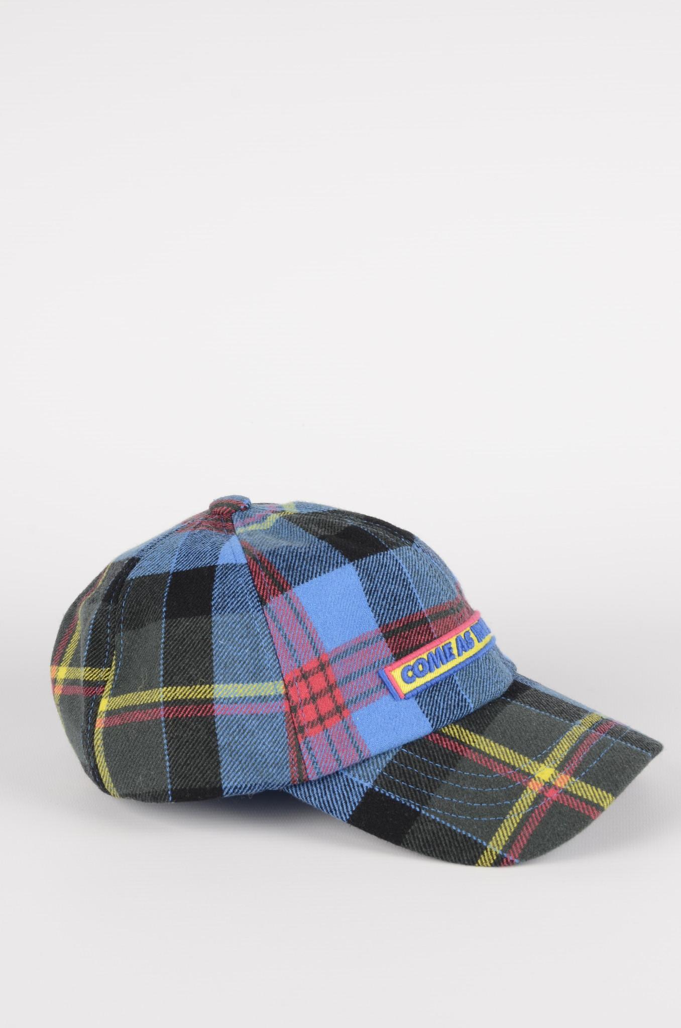 BLUE CHECKERED CAP-1