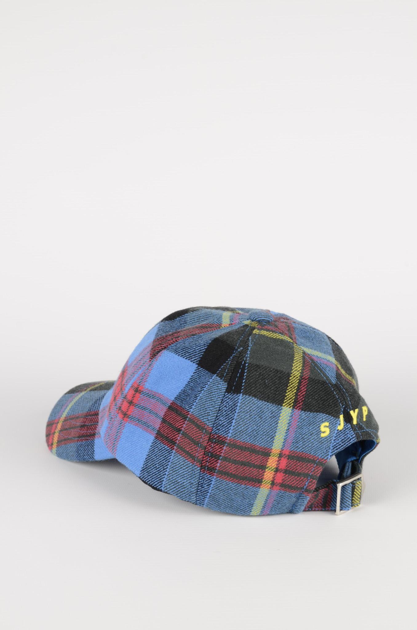 BLUE CHECKERED CAP-2