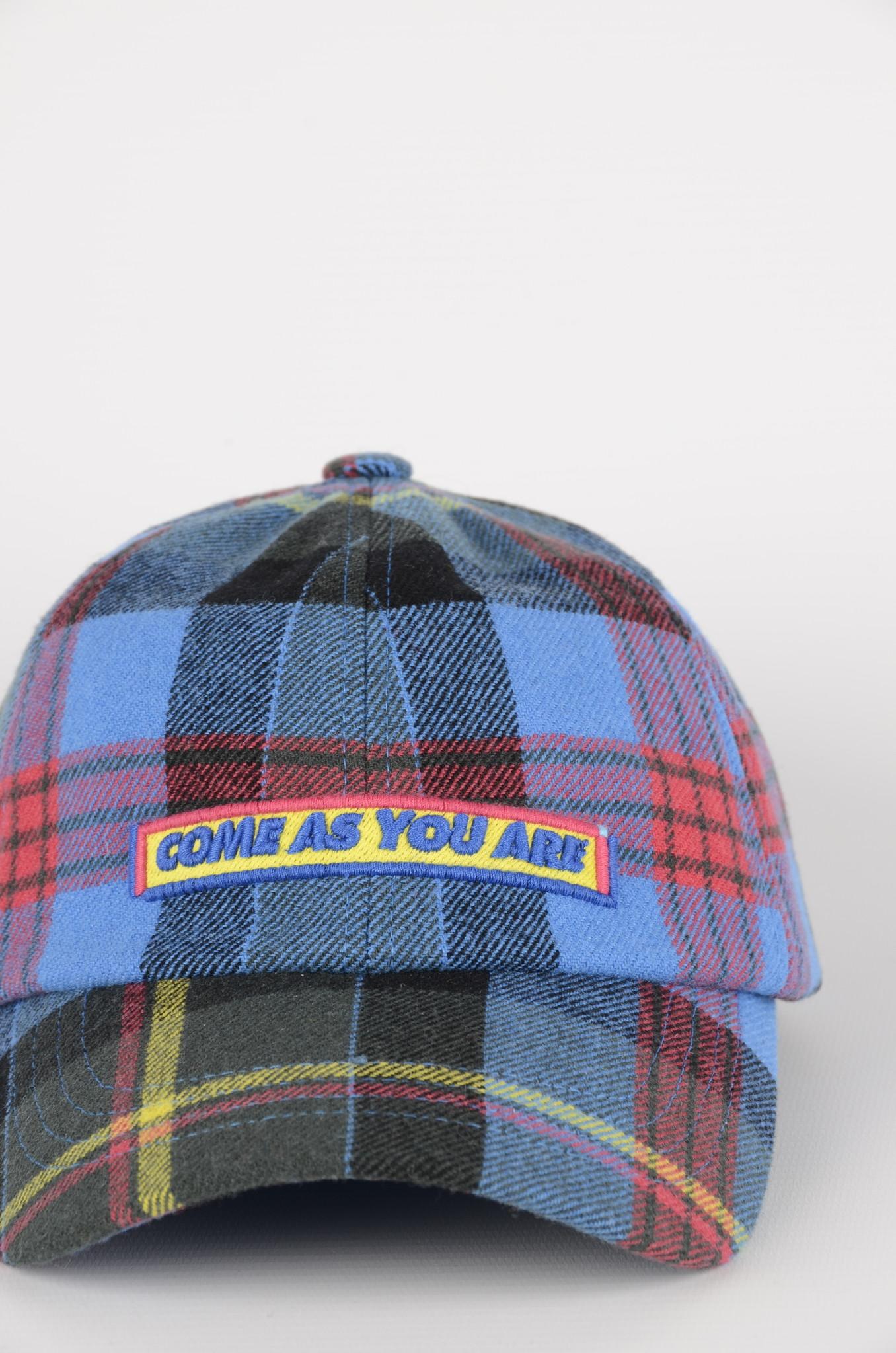 BLUE CHECKERED CAP-4