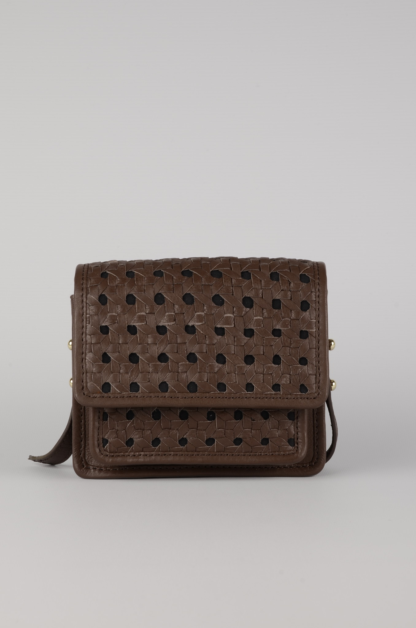MINI BRAID BAG BROWN-1