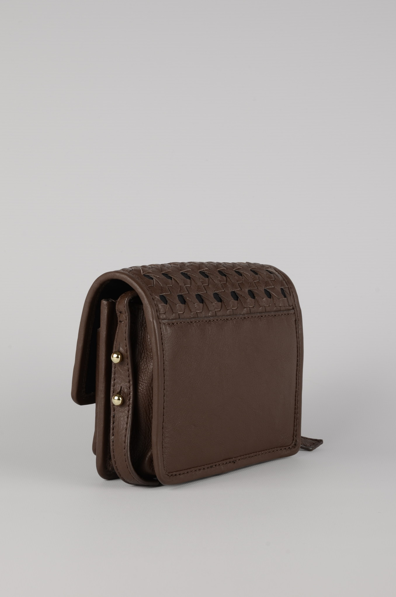 MINI BRAID BAG BROWN-3