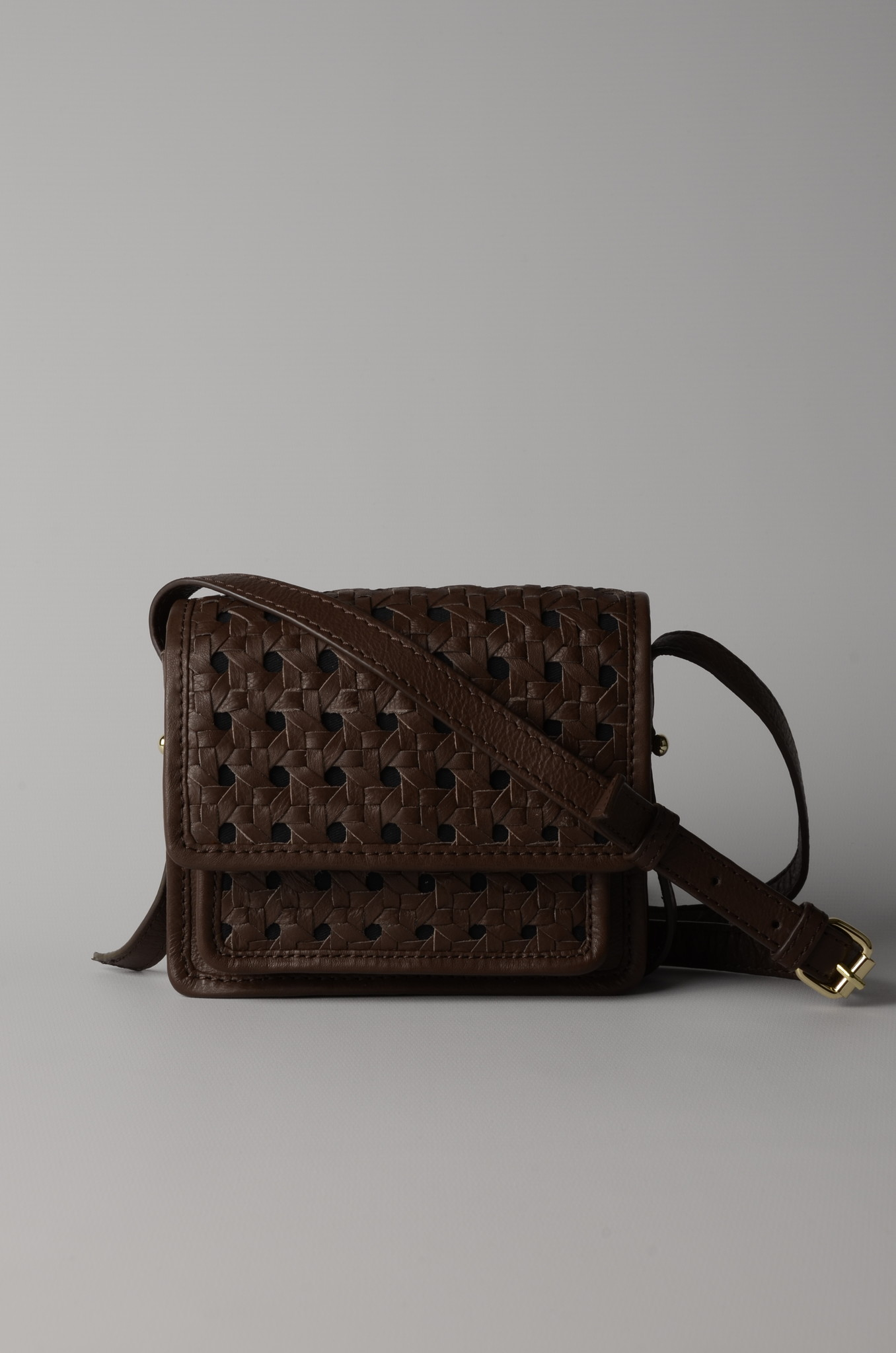 MINI BRAID BAG BROWN-6