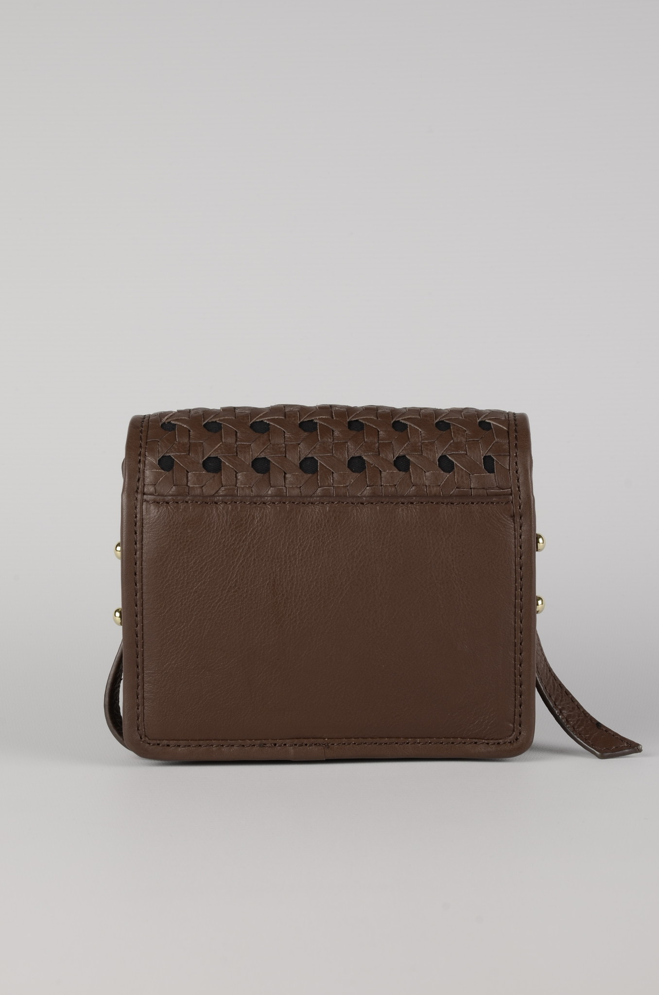 MINI BRAID BAG BROWN-4