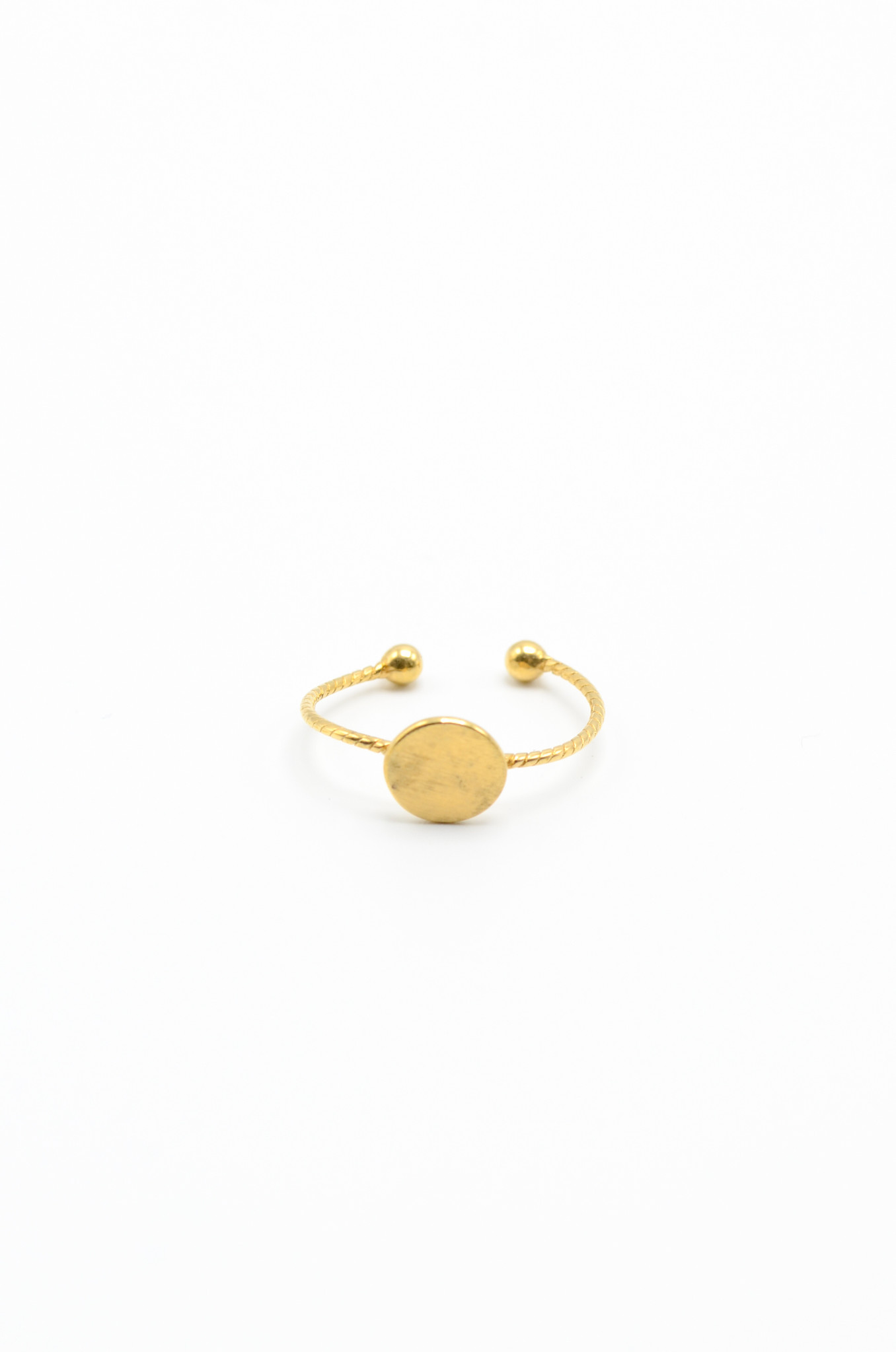 GOLDPLATED BRASS RING-3