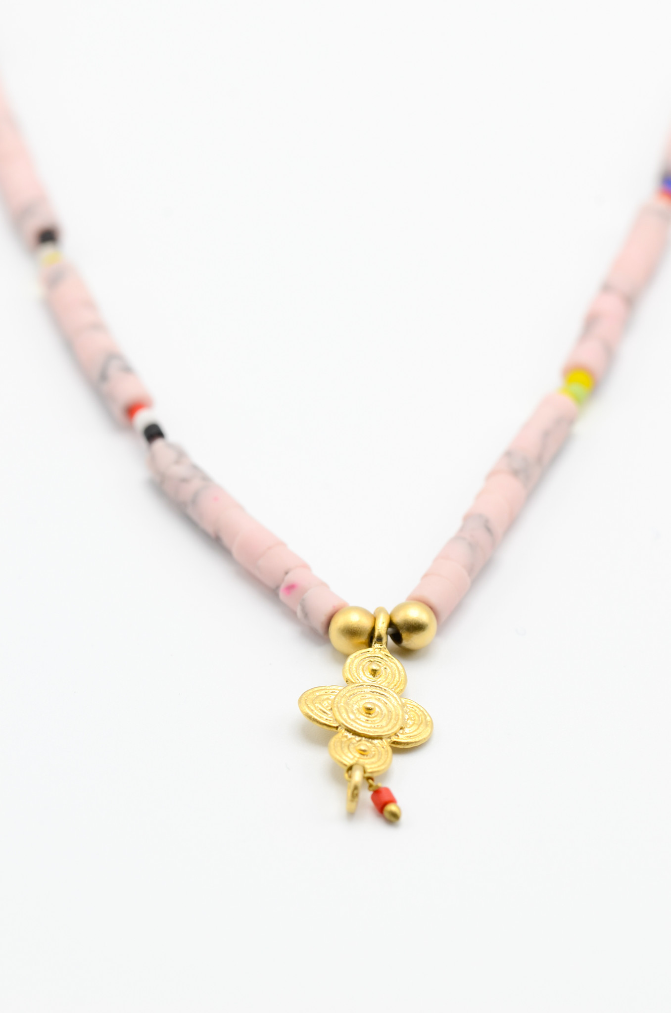 SURFBEAD NECKLACE PINK-2