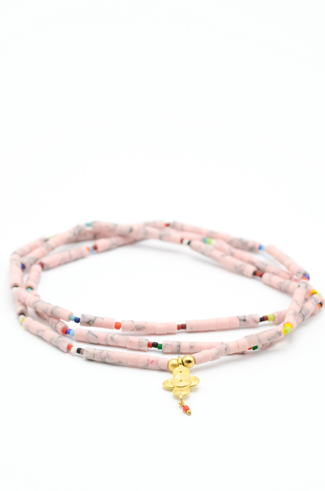 SURFBEAD NECKLACE PINK-1