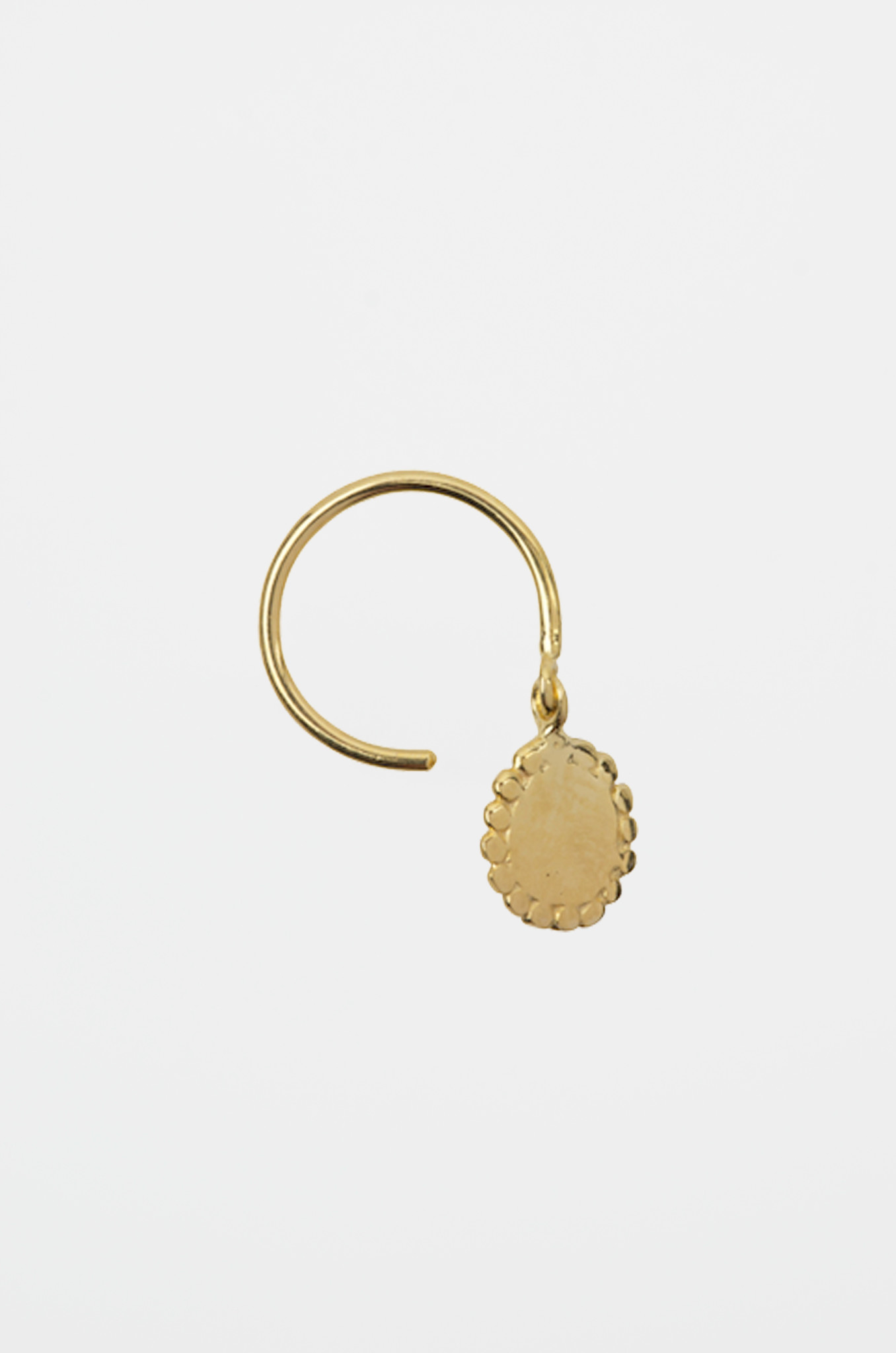 DOTTED ROUND CHARM RING GOLDPLATED-1