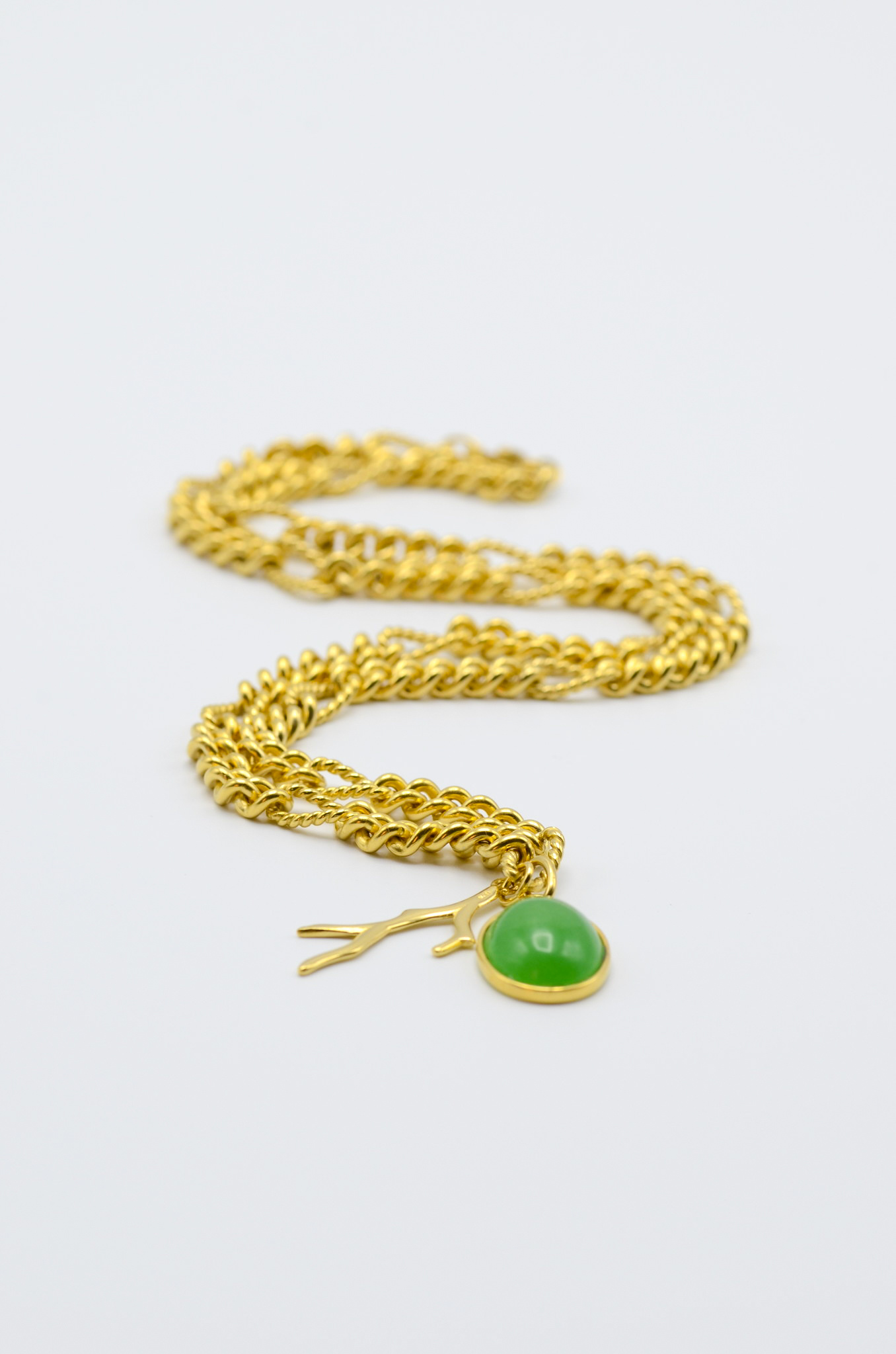 BIG CHAIN ADVENTURINE NECKLACE-1