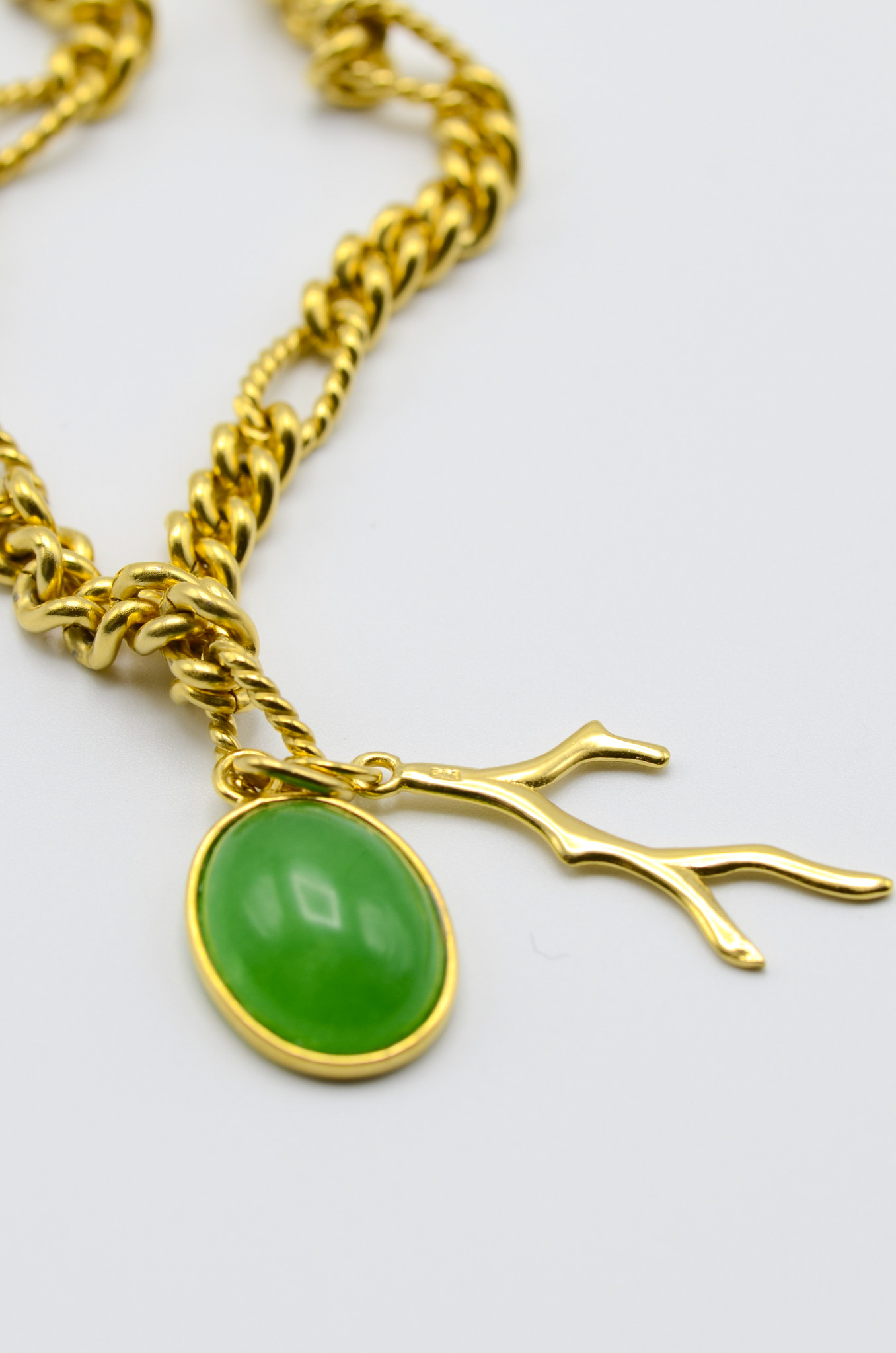 BIG CHAIN ADVENTURINE NECKLACE-2