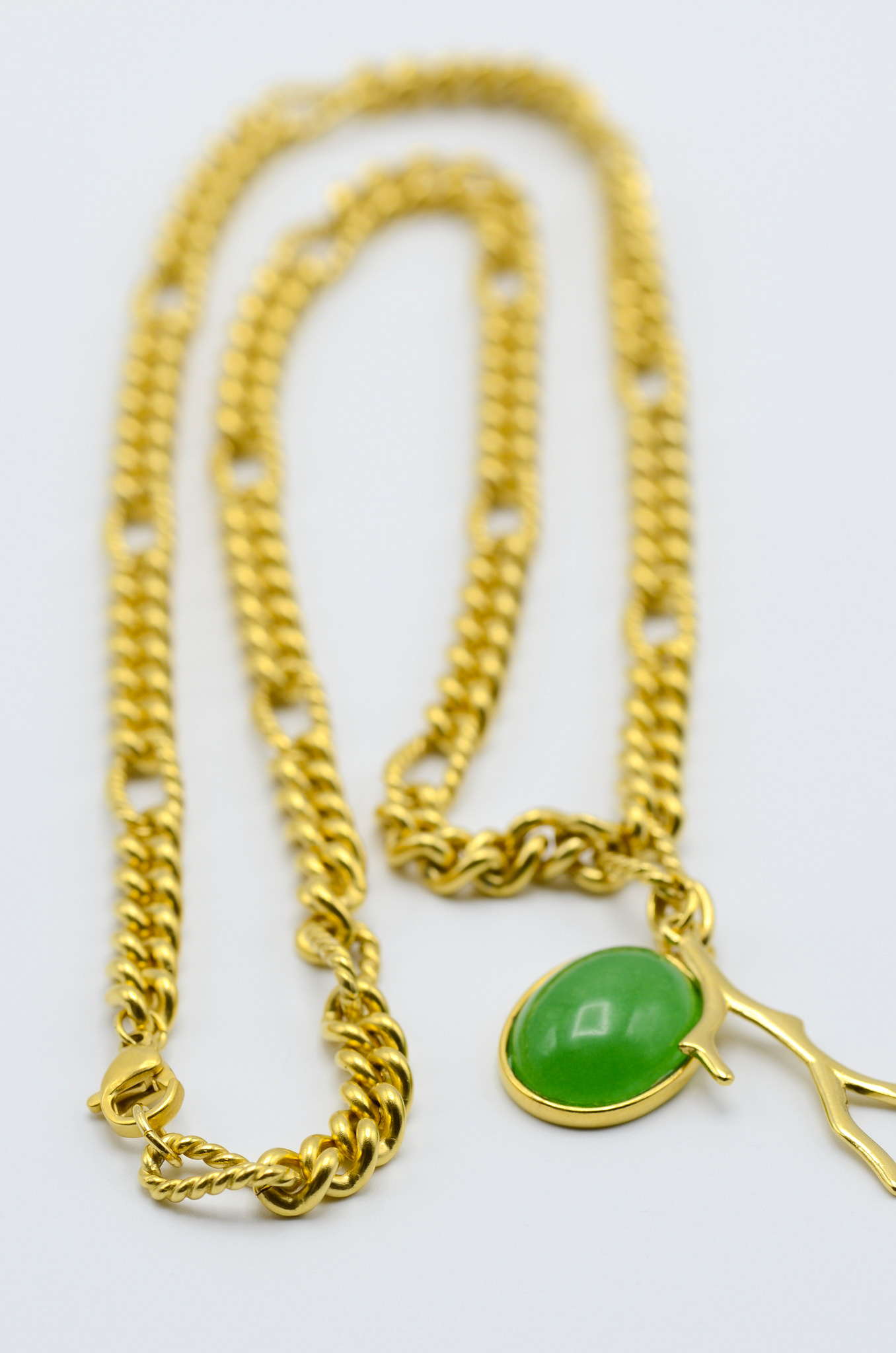 BIG CHAIN ADVENTURINE NECKLACE-3