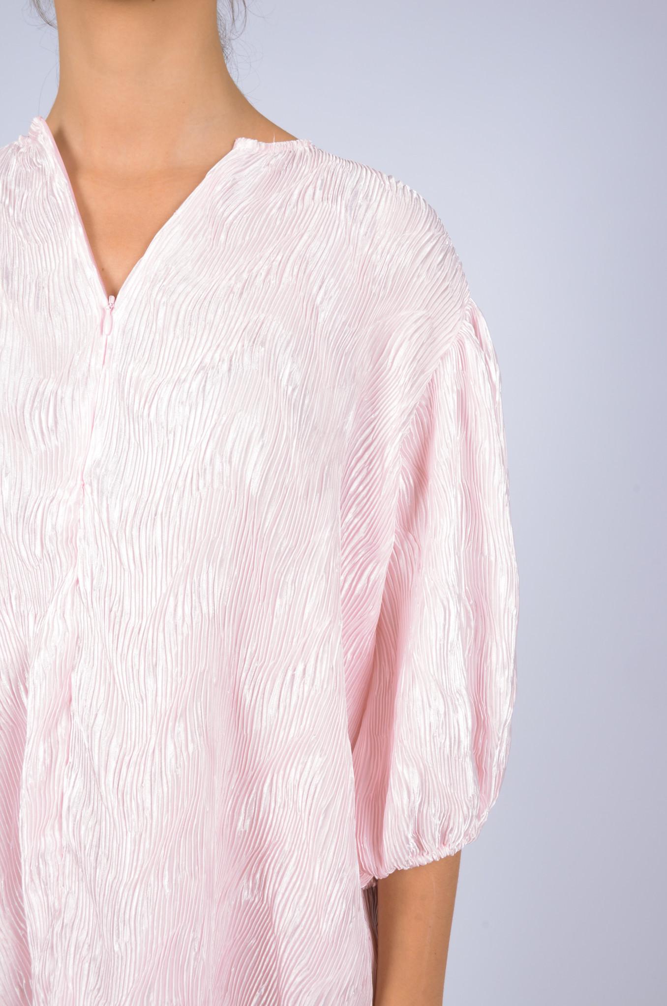 PLEATED SATIN WIDE DRESS-6