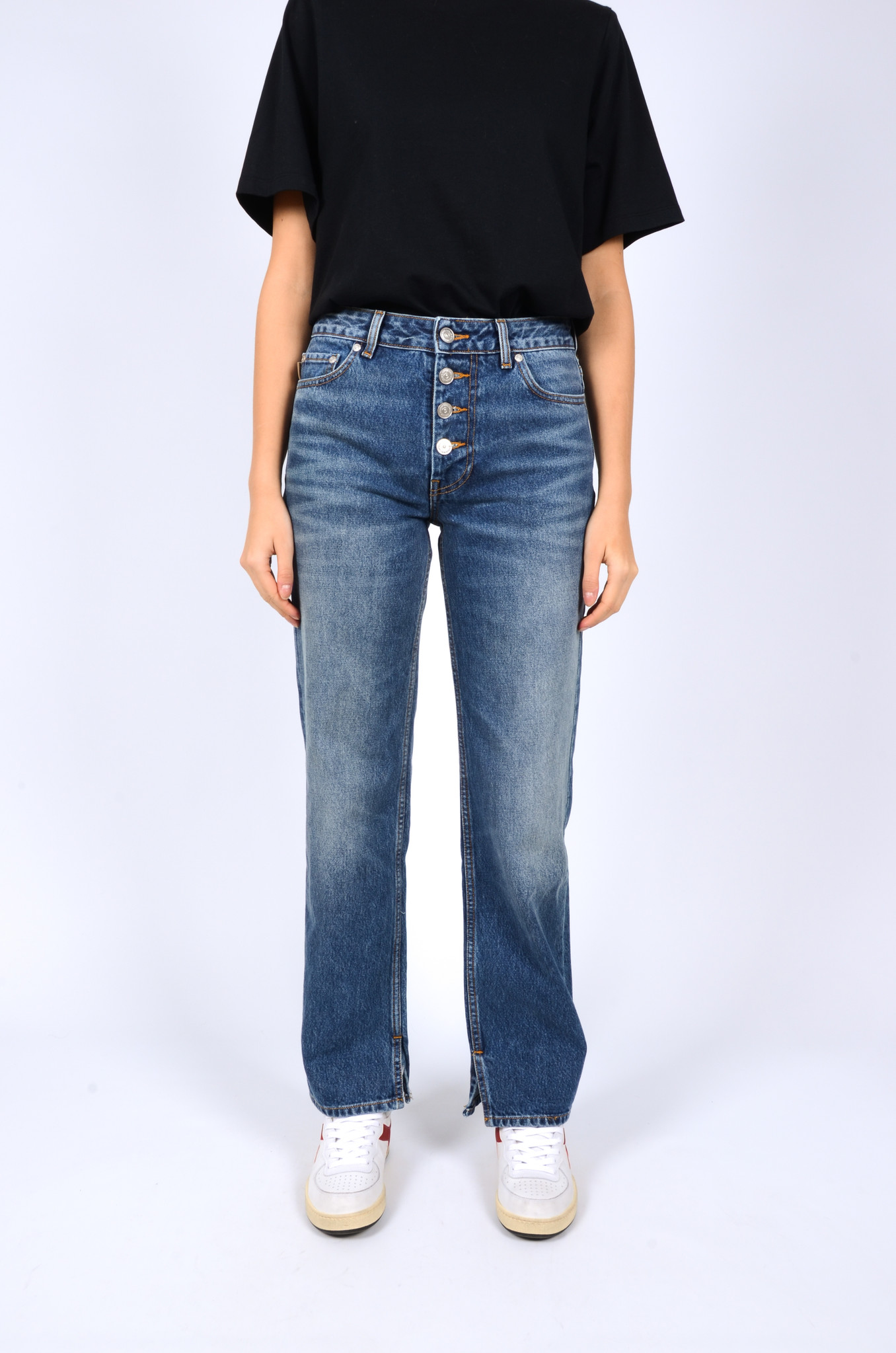 MID WAIST RELAXED FIT JEANS-2