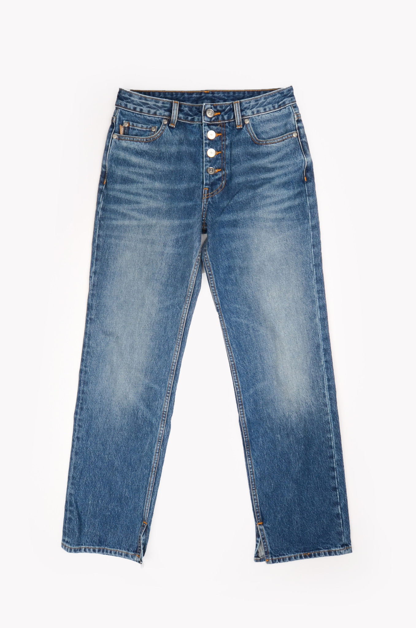 MID WAIST RELAXED FIT JEANS-1