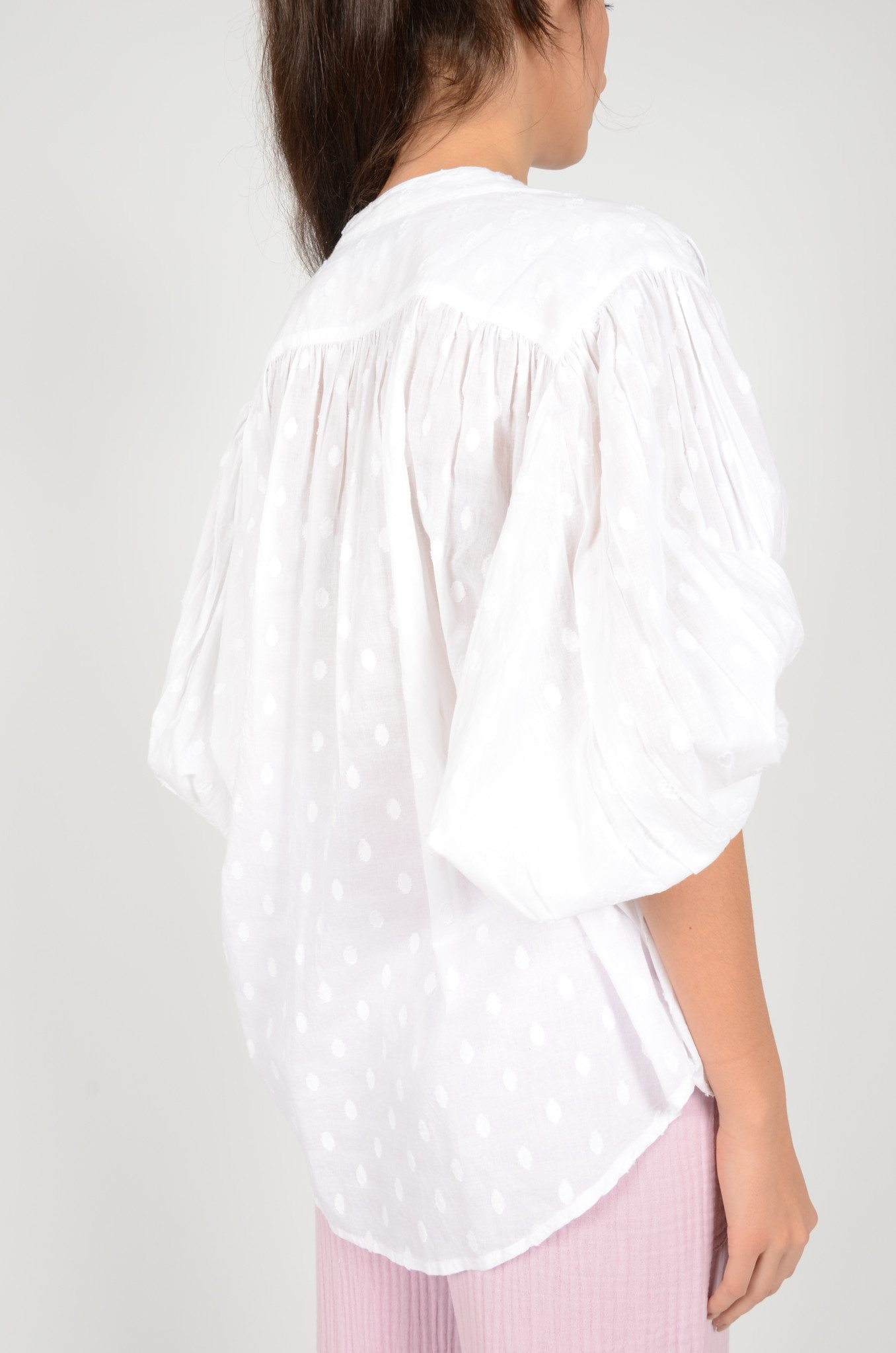 BALLOON BLOUSE IN WHITE-4