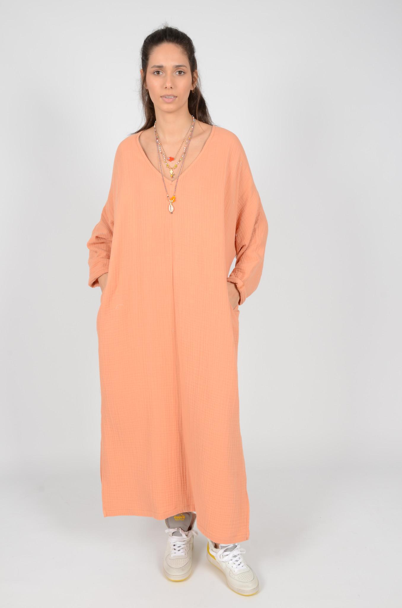 SONEVA DRESS IN PEACH-6