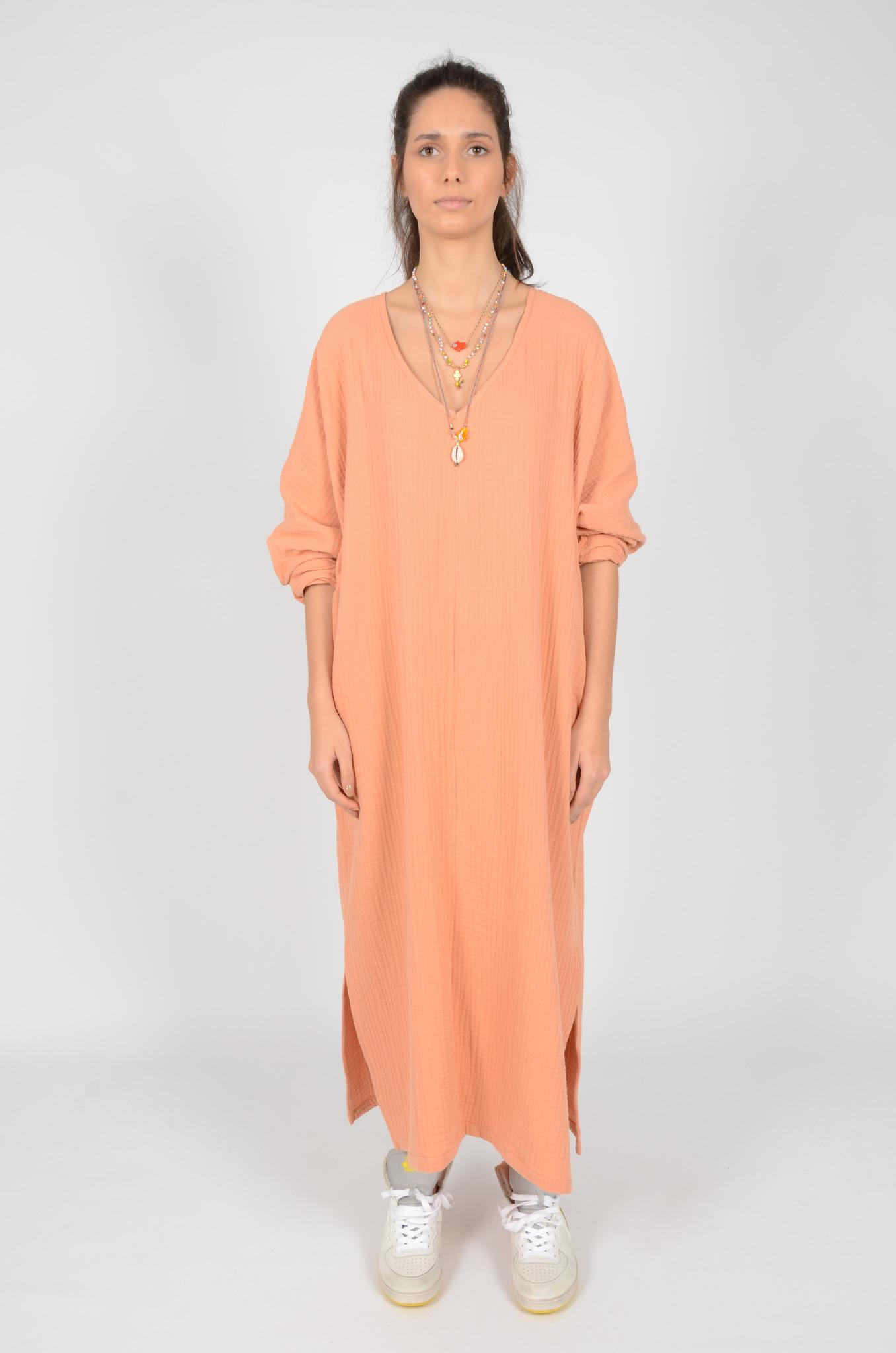 SONEVA DRESS IN PEACH-2