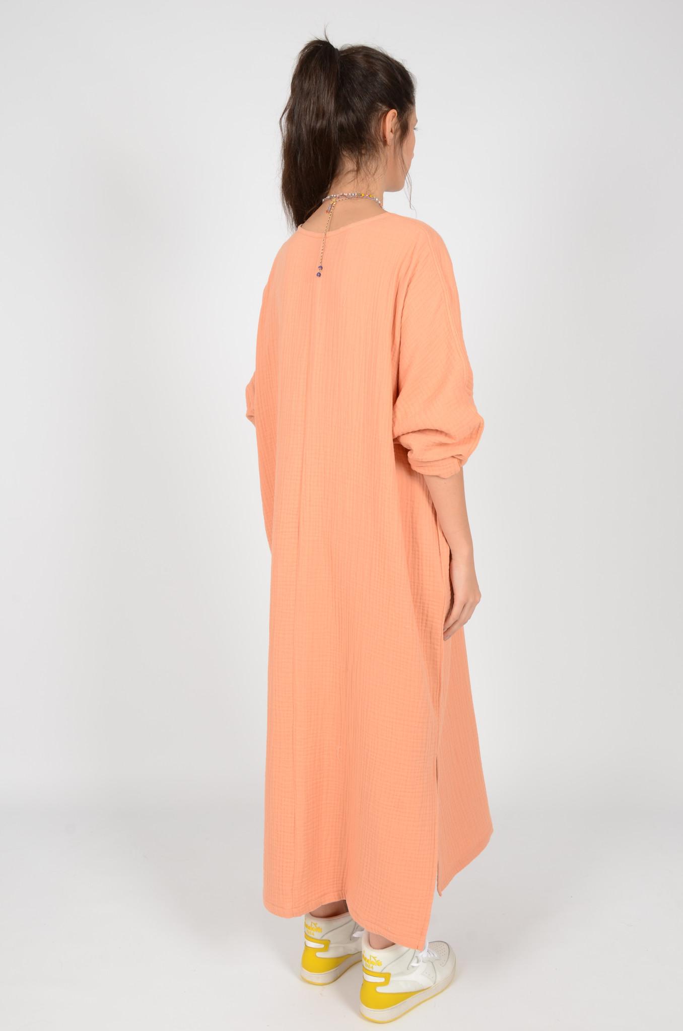 SONEVA DRESS IN PEACH-4