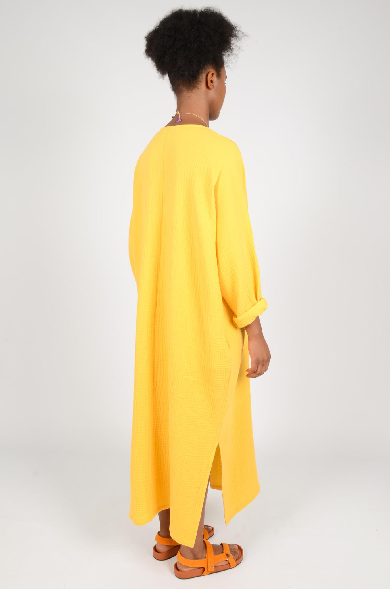 SONEVA DRESS IN BANANA YELLOW-3