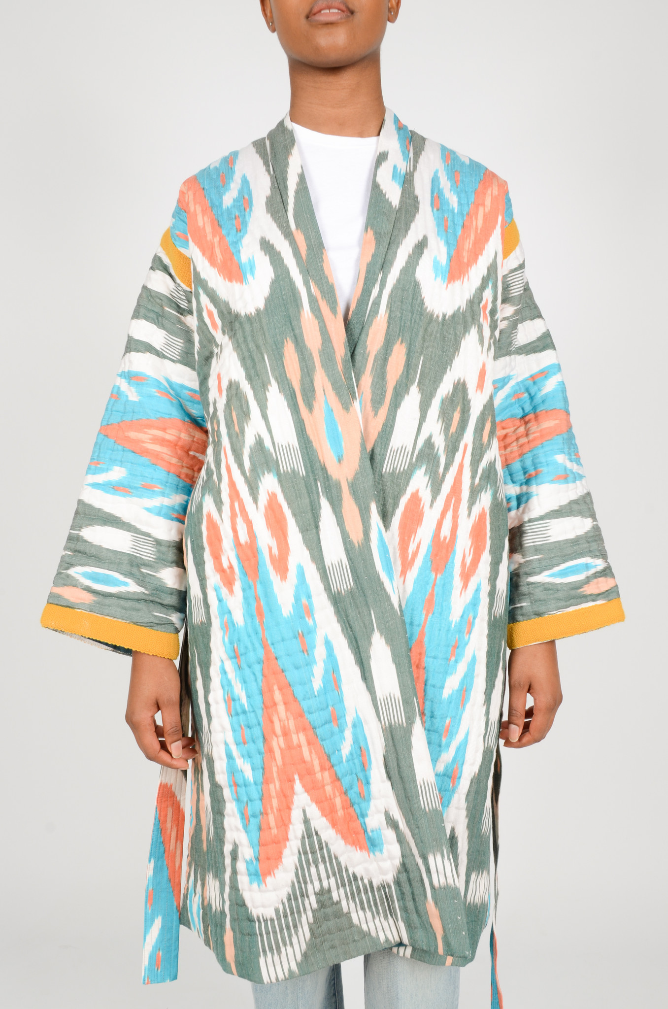 IKAT LONG QUILTED COAT-2