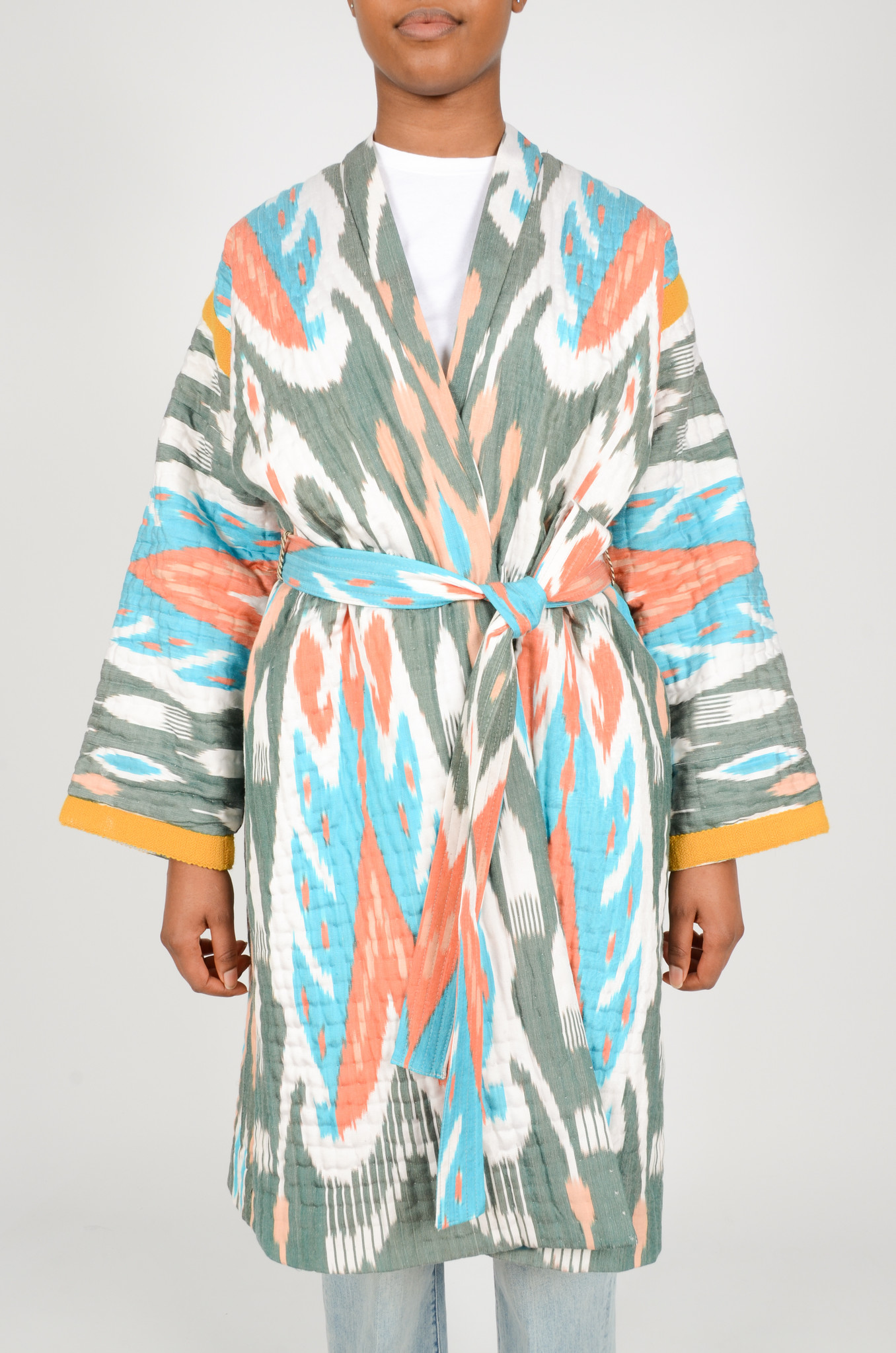 IKAT LONG QUILTED COAT-1