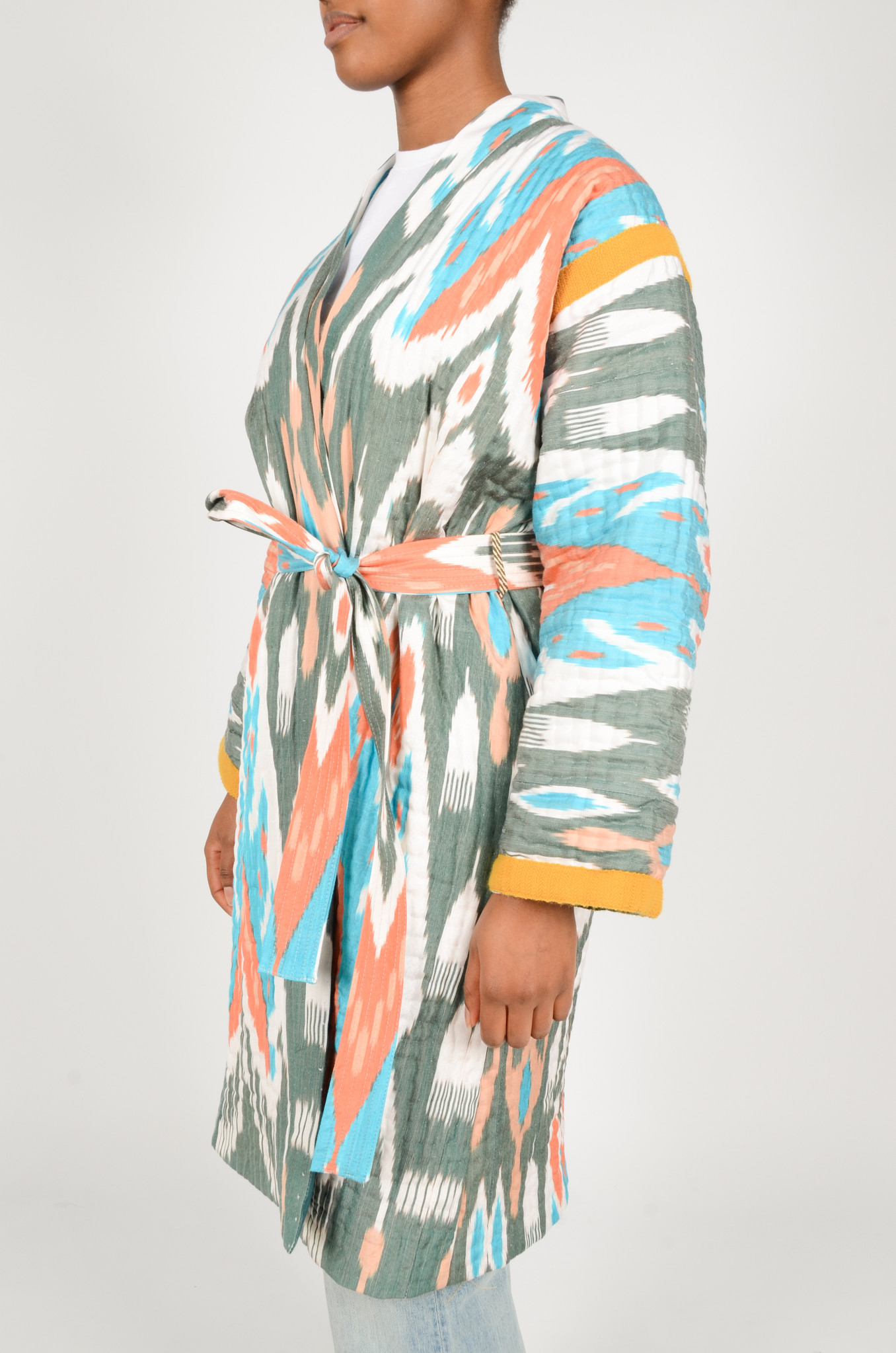 IKAT LONG QUILTED COAT-3