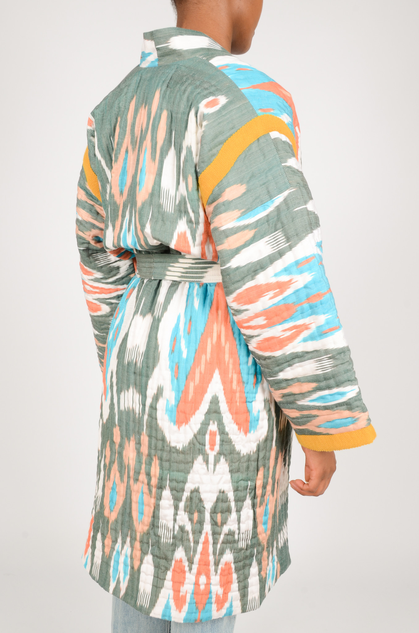 IKAT LONG QUILTED COAT-4