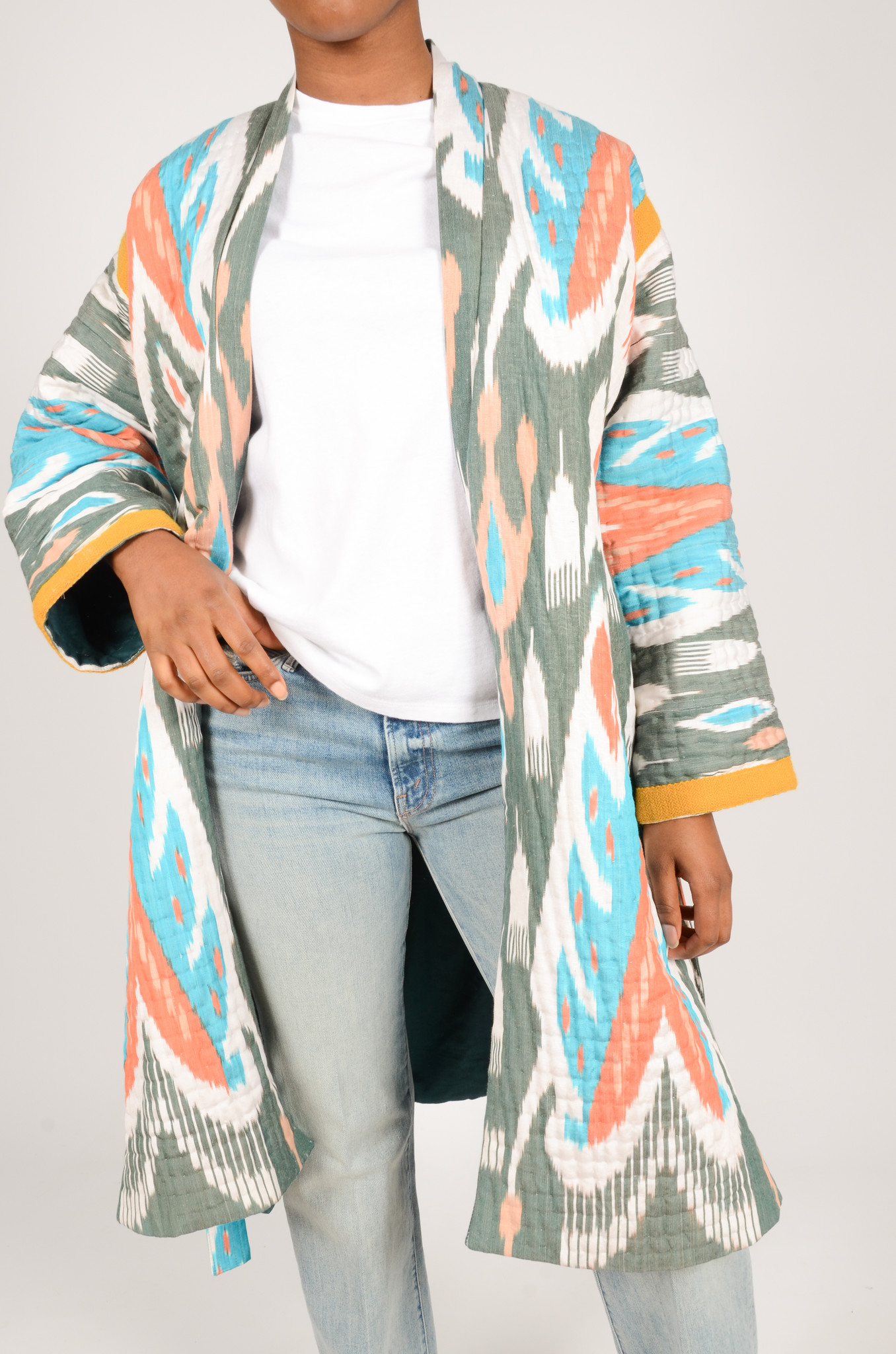 IKAT LONG QUILTED COAT-5