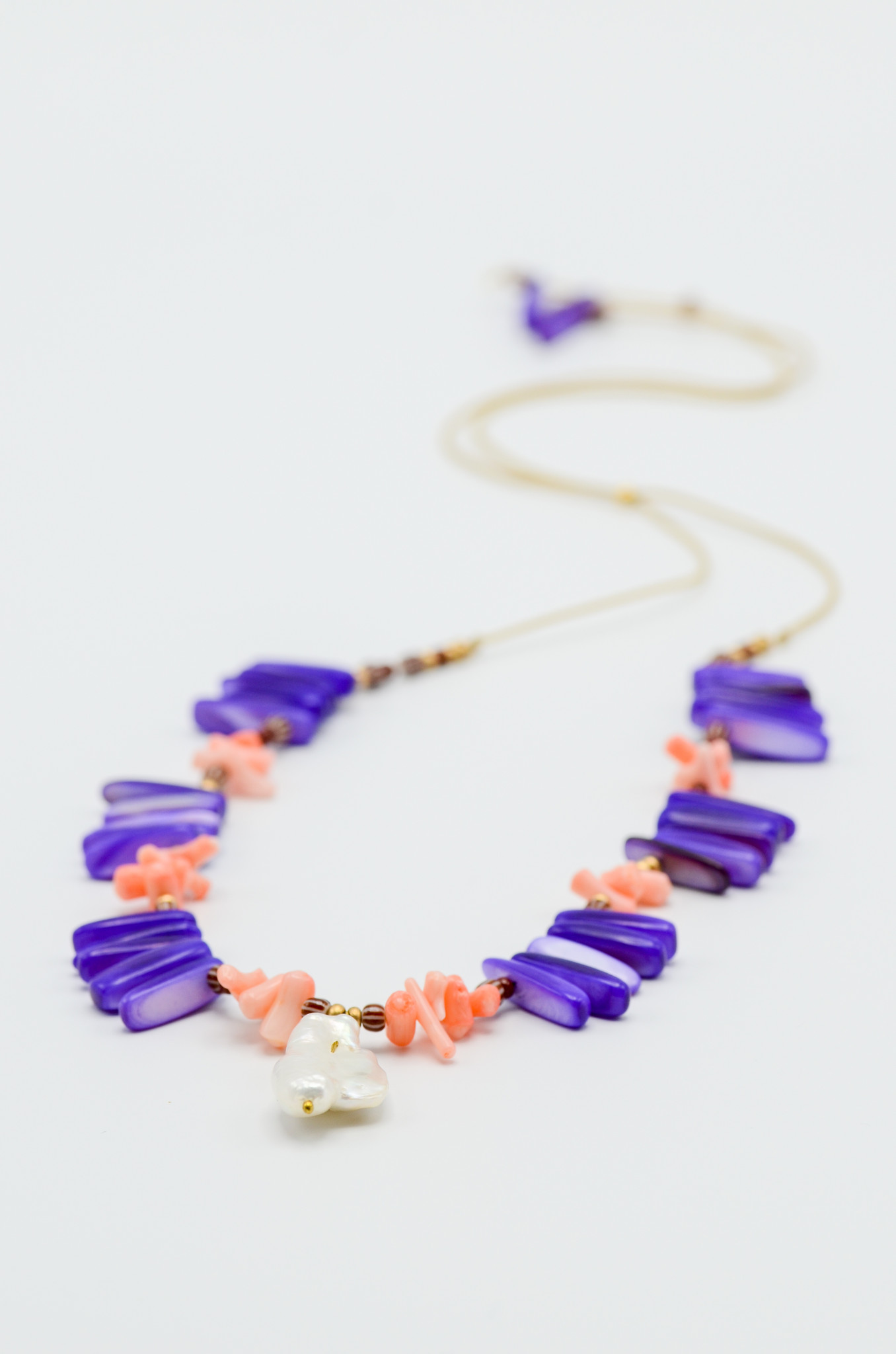 LILAC CORAL TROPICAL  NECKLACE-2