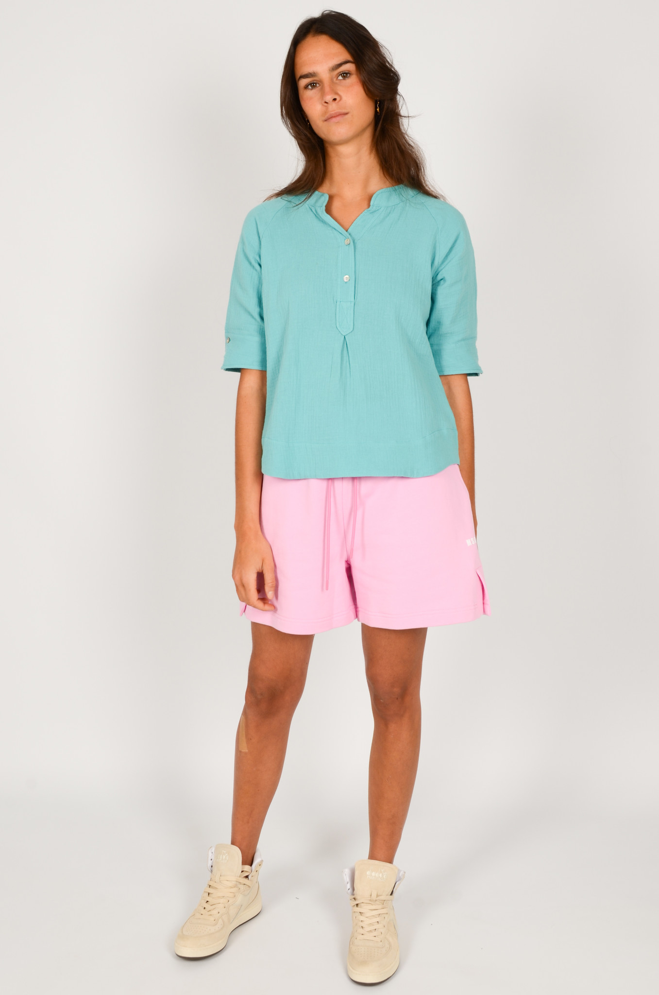 SWEAT SHORTS IN PINK-5