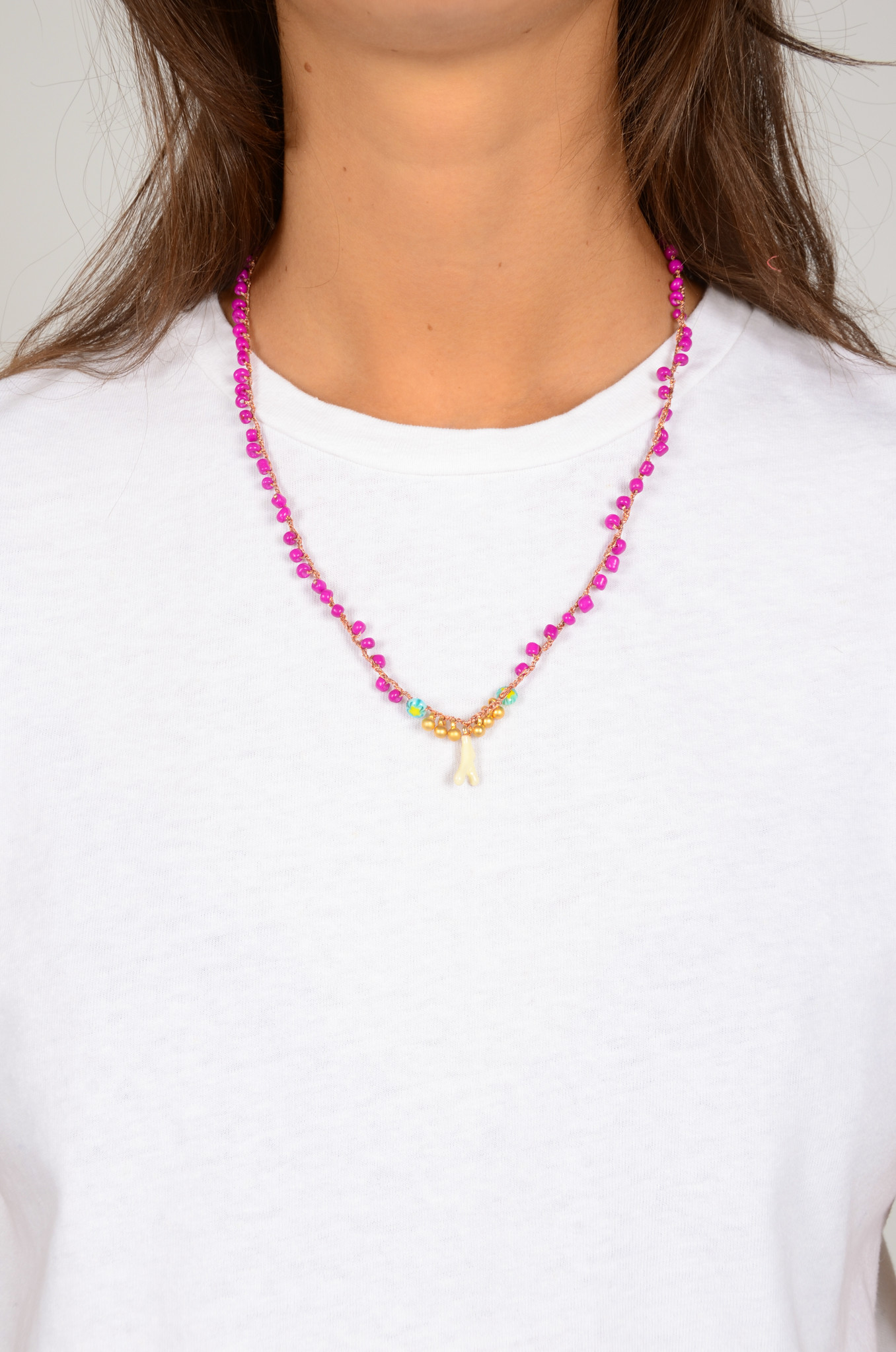 CROCHETED BEAD NECKLACE-1