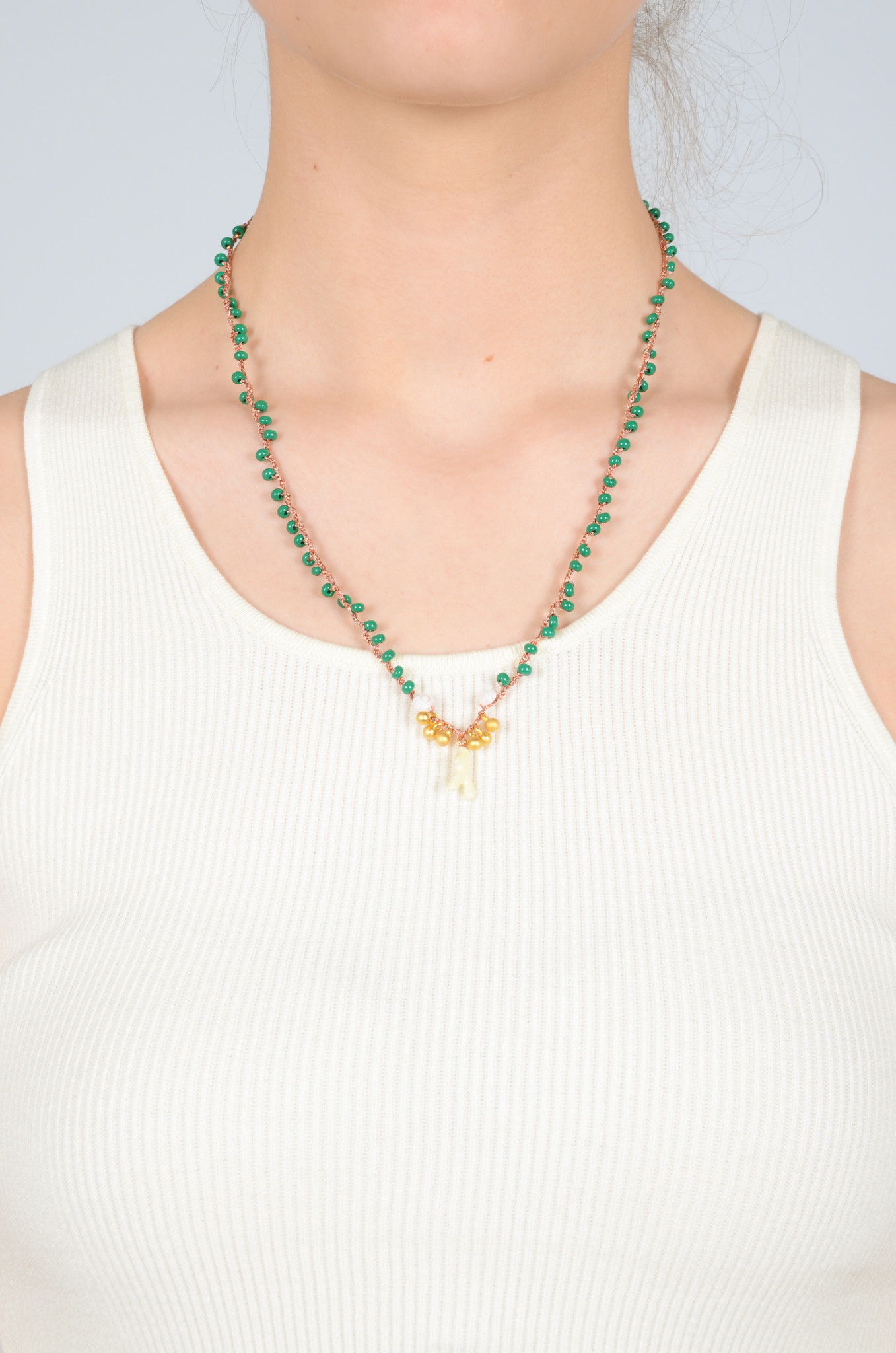 CROCHETED BEAD NECKLACE-7