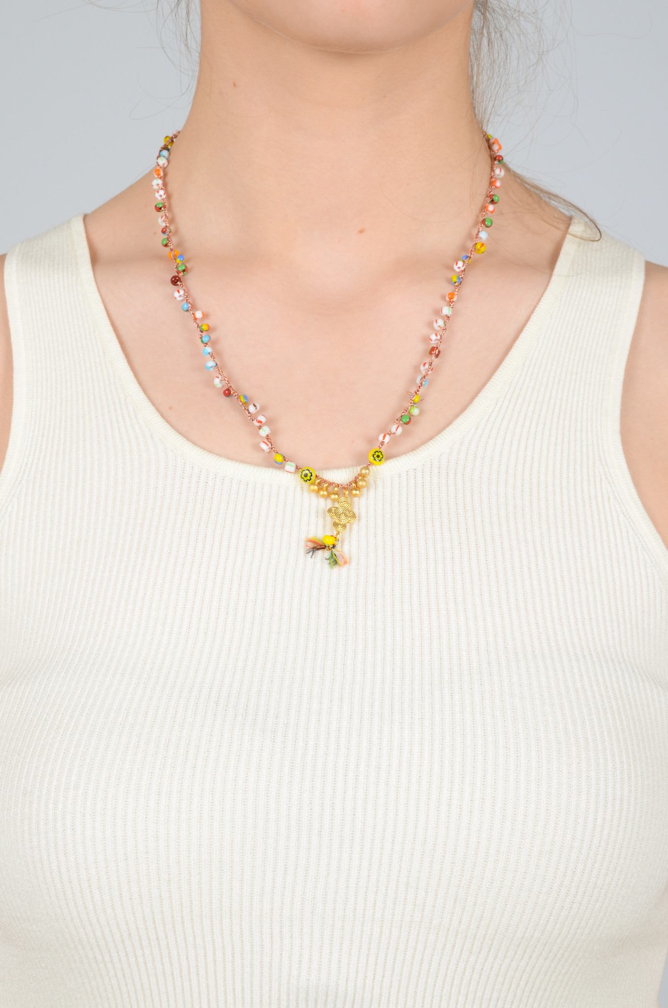 CROCHETED BEAD NECKLACE-5
