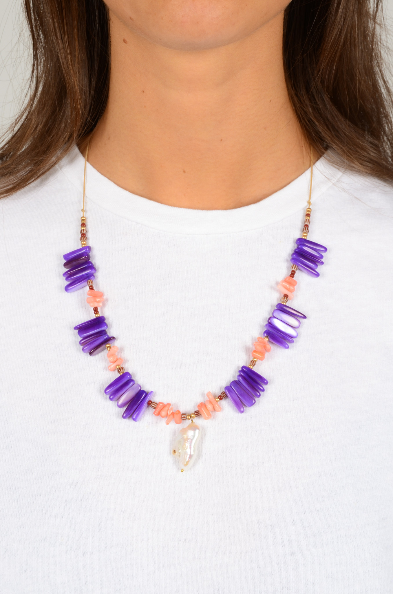 LILAC CORAL TROPICAL  NECKLACE-1