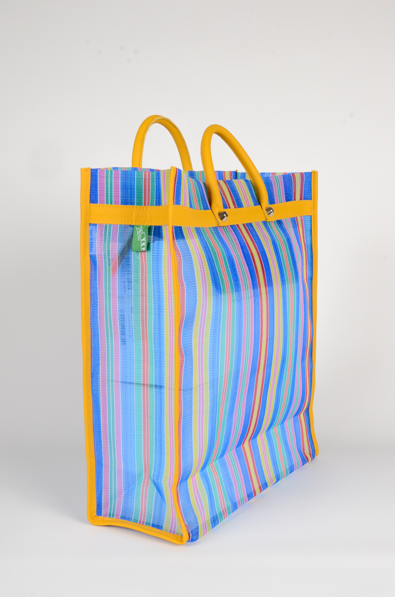MEXICAN MARKET BAG IN BLUE-4