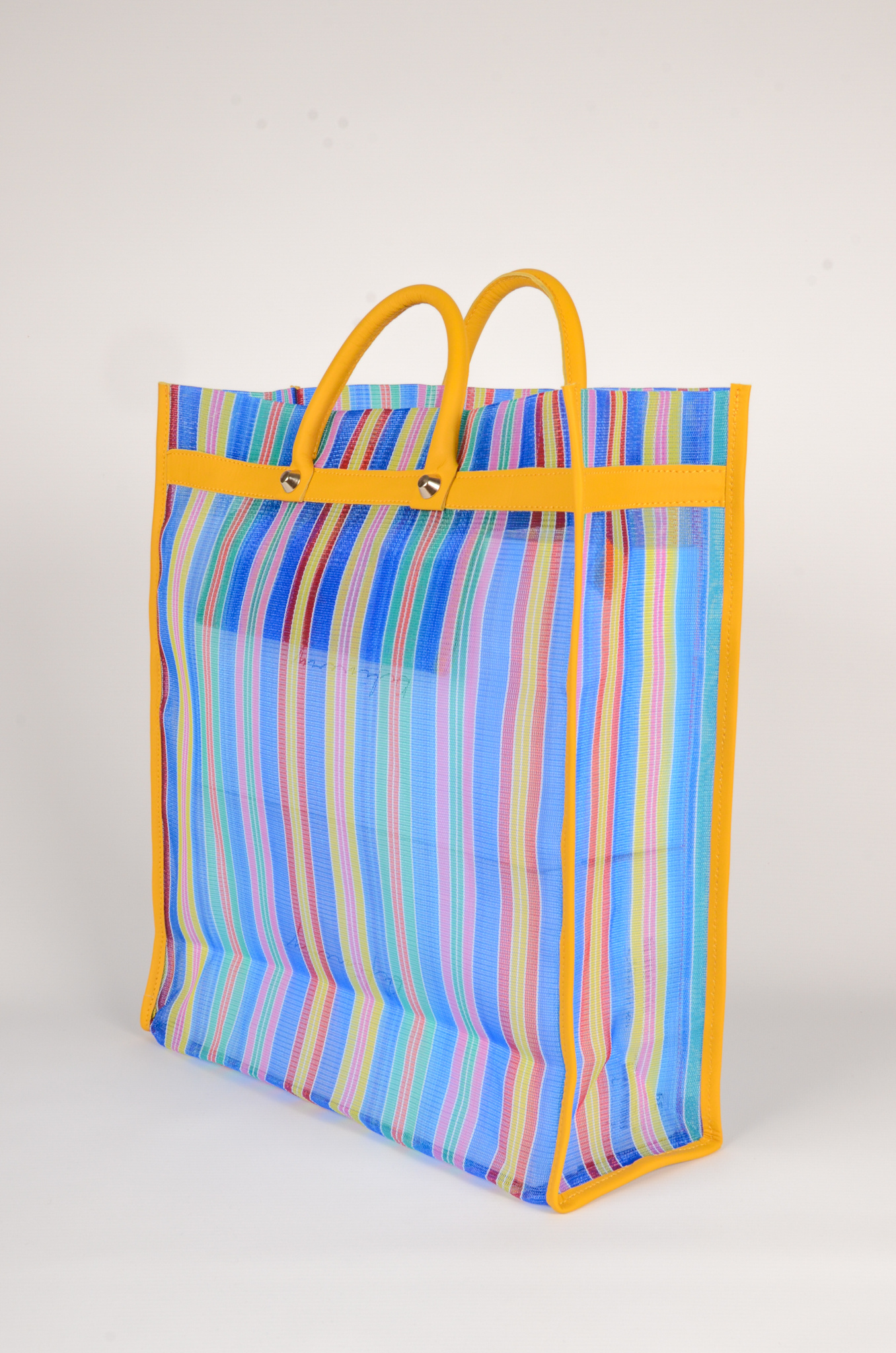 MEXICAN MARKET BAG IN BLUE-2