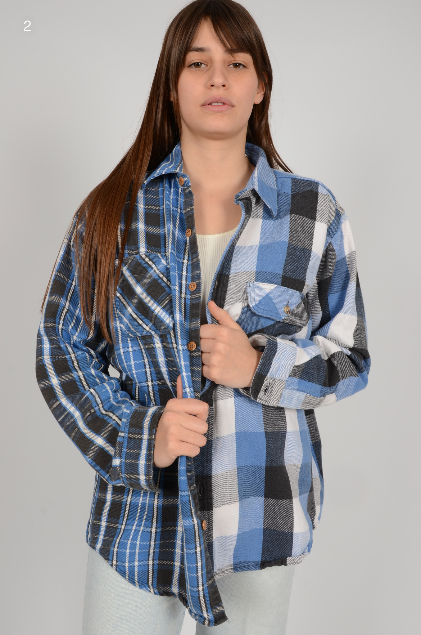 UPCYCLED ONE OF KIND PANELLED SHIRT-3