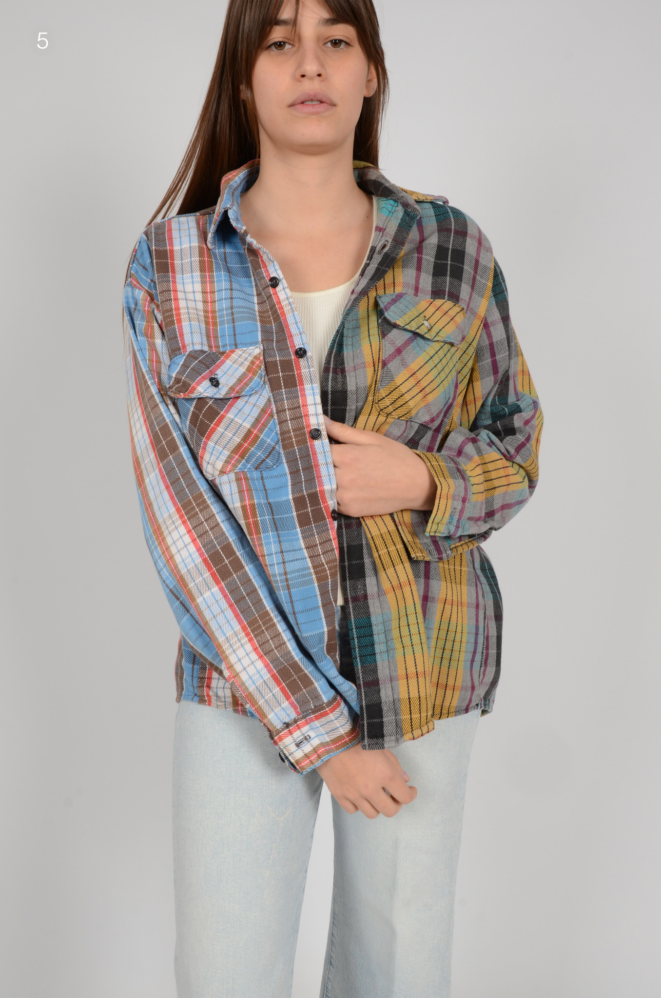 UPCYCLED ONE OF KIND PANELLED SHIRT-9