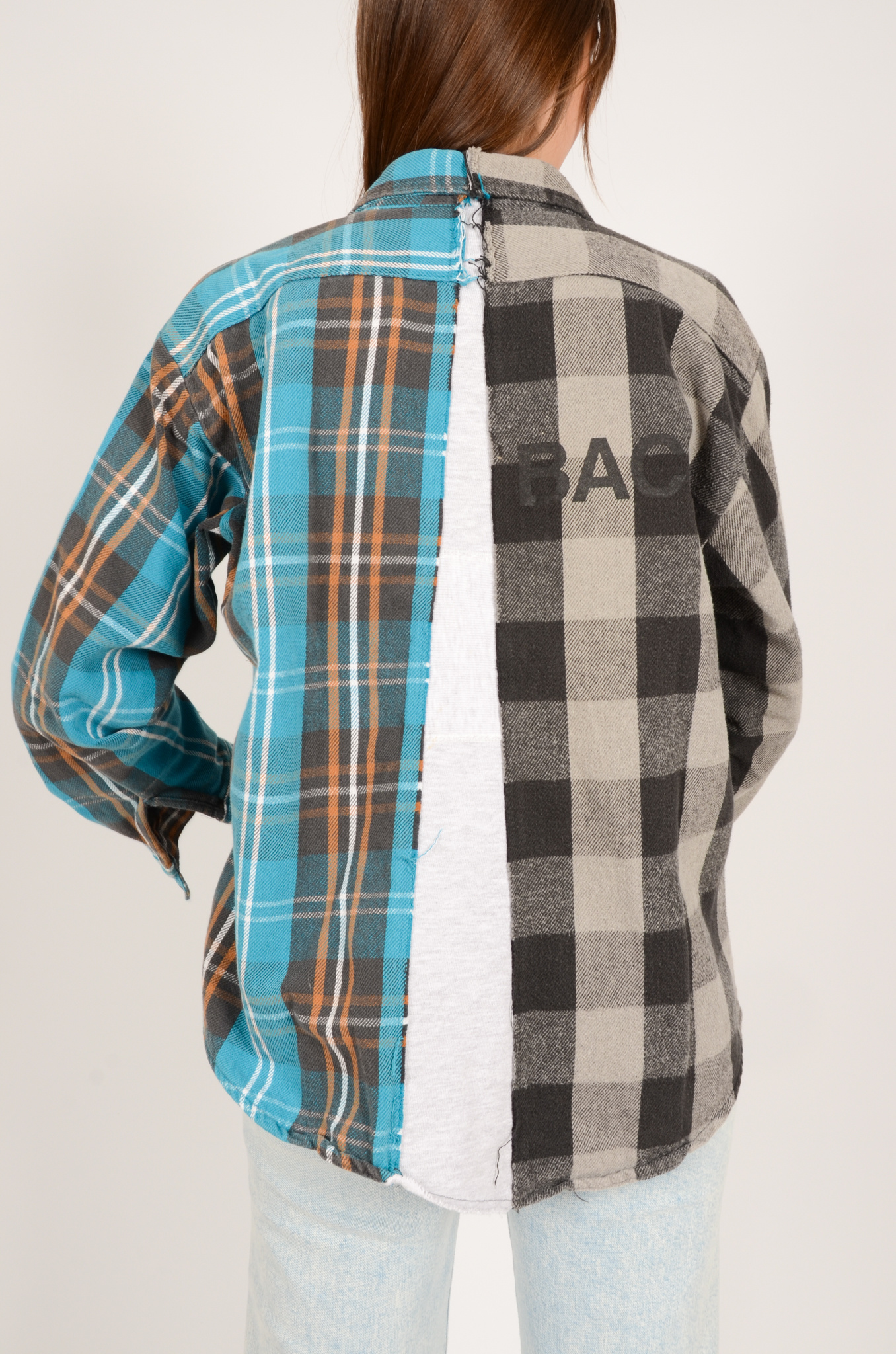 UPCYCLED ONE OF KIND PANELLED SHIRT-2