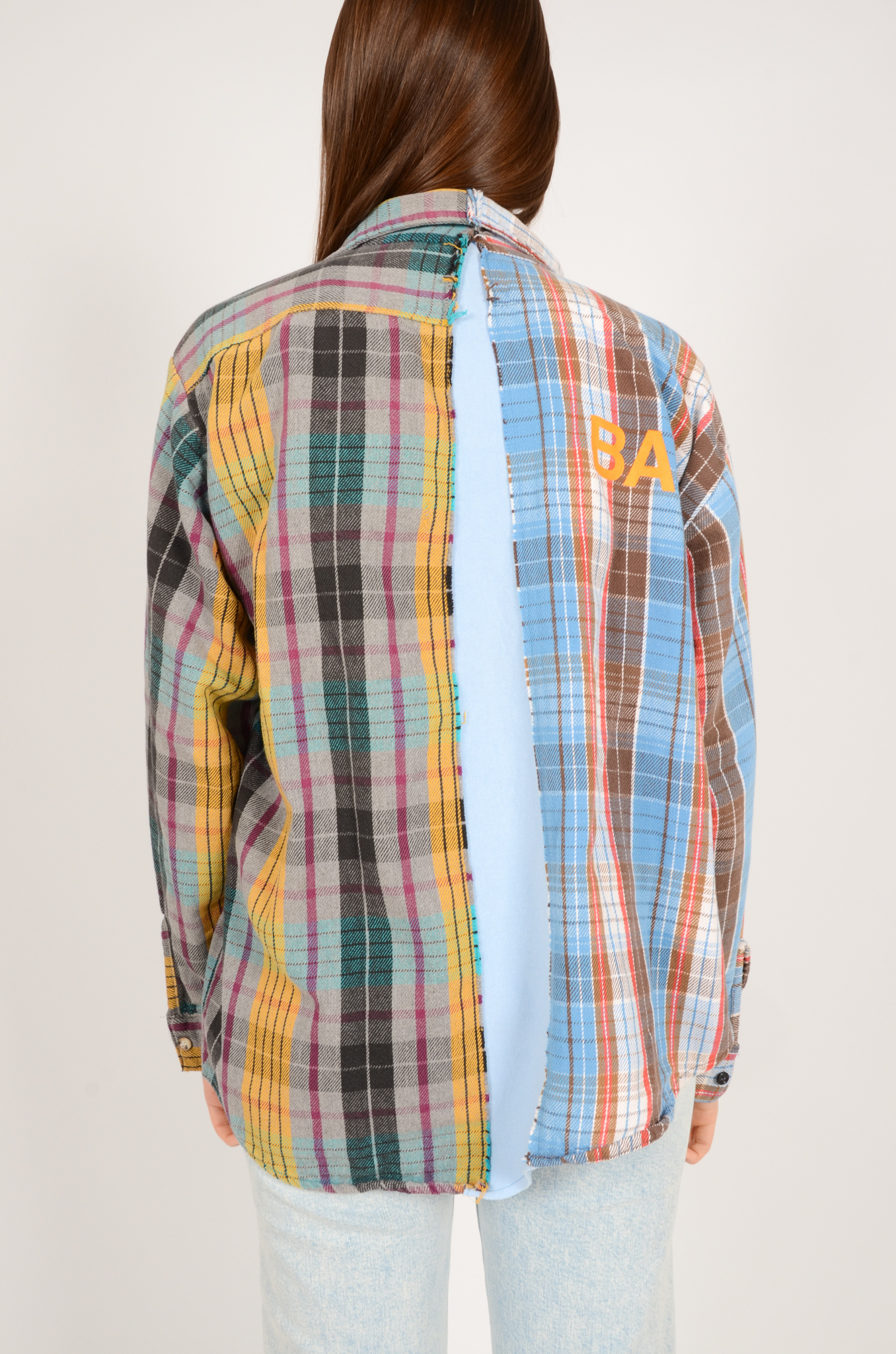 UPCYCLED ONE OF KIND PANELLED SHIRT-10