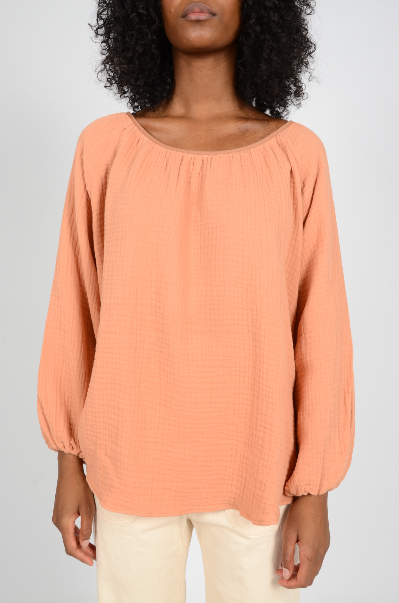 MORNING BLOUSE IN PEACH-1