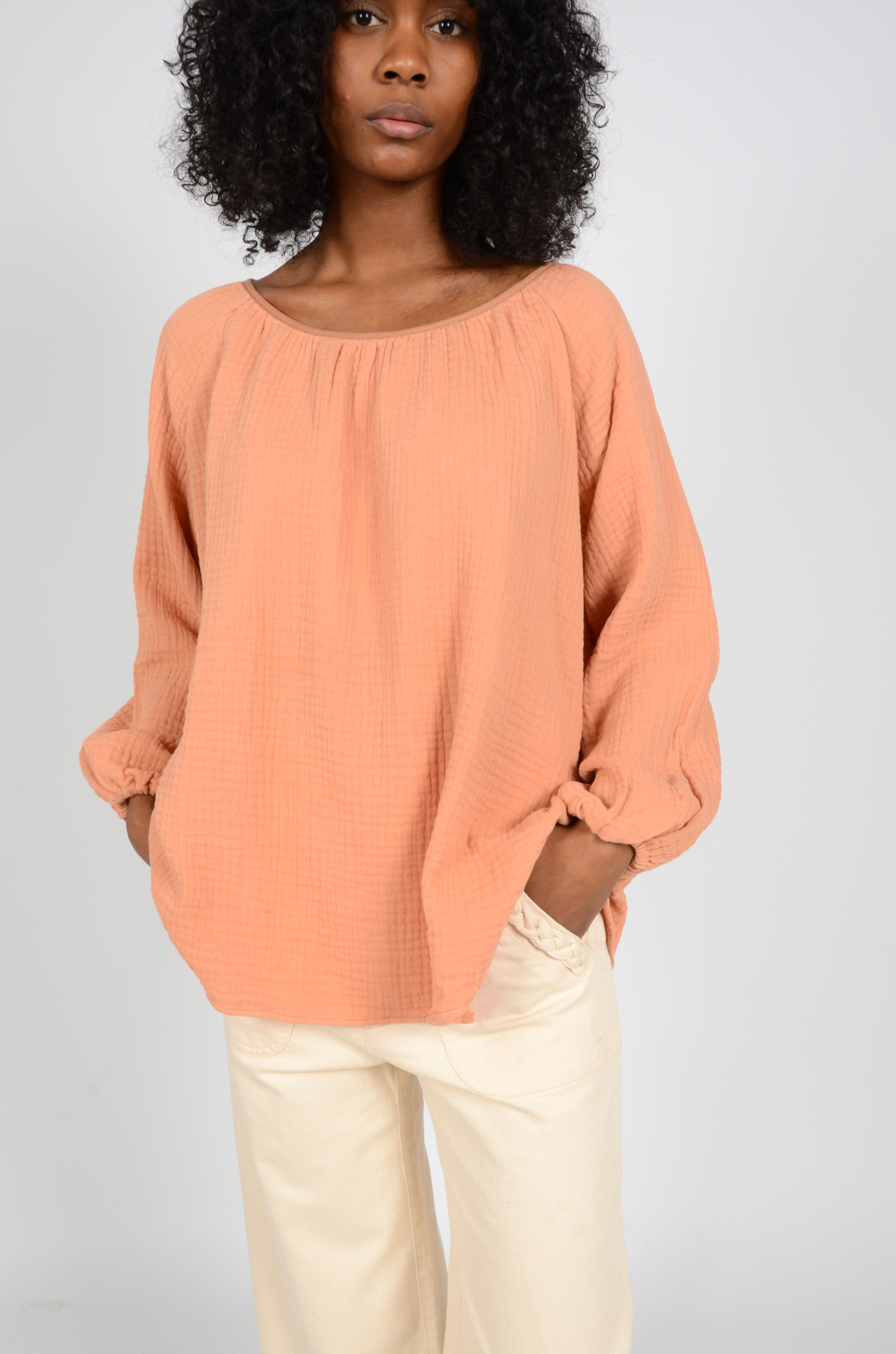 MORNING BLOUSE IN PEACH-2
